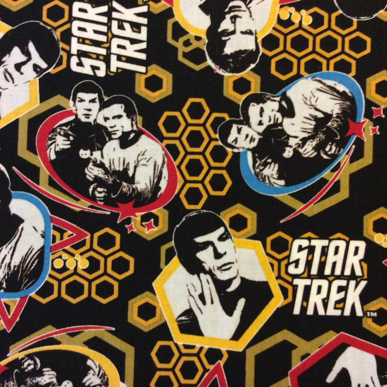 CS455 Star Trek Cotton Quilt Fabric CS455