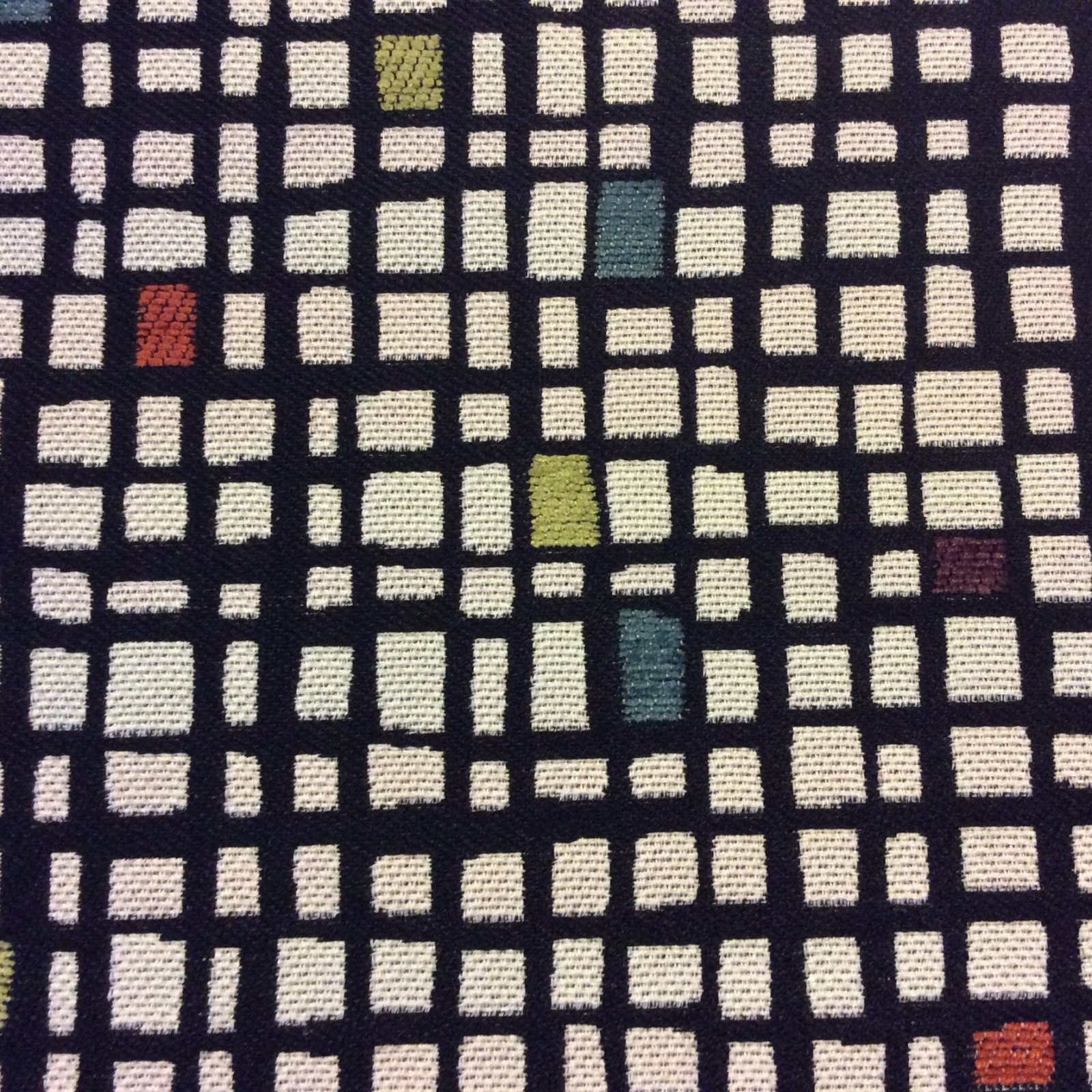 Modern Geometric Check Heavy Woven Home Dec Upholstery Fabric Nl78