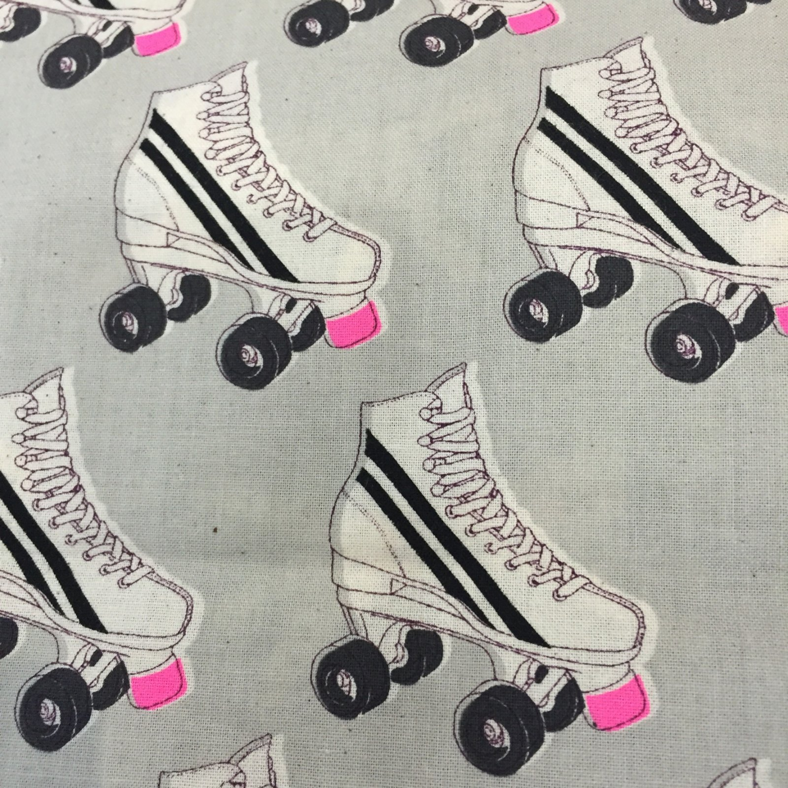 BACKORDERED Cotton + Steel Roller Rink Neon Pink Cotton Quilt Fabric