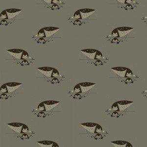 Charley Harper Burrowing Owl Western Birds Organic Cotton Quilt Fabric CHB62