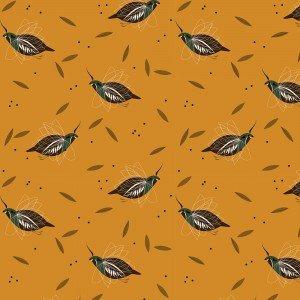 Charley Harper Mountain Quail Western Birds Organic Cotton Quilt Fabric CHB61
