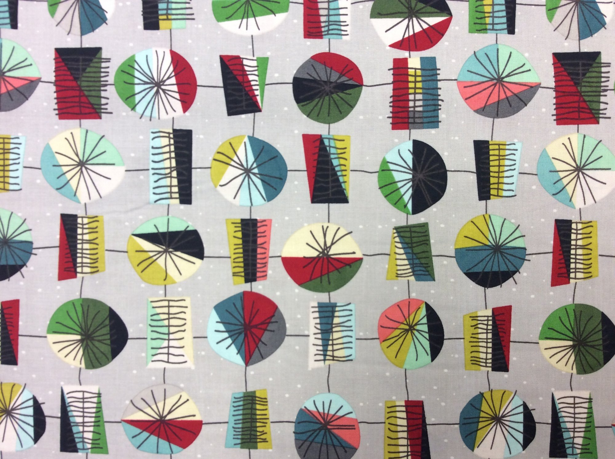 Atomic Era Retro Mod Mid Centery Modern Style Cotton Quilt Fabric MD327
