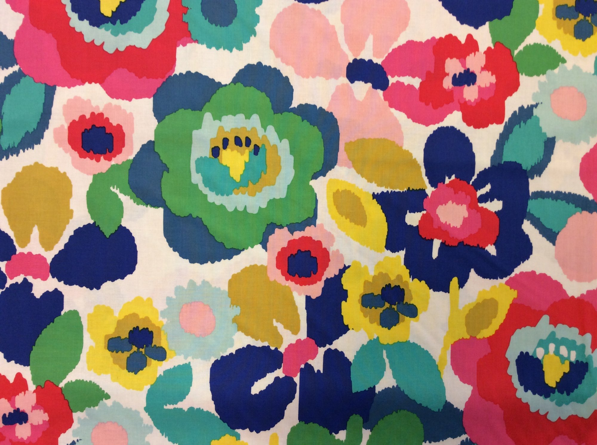 Poppy Floral Watercolor Graphic Flower Print Cotton Fabric Quilting Fabric MD340
