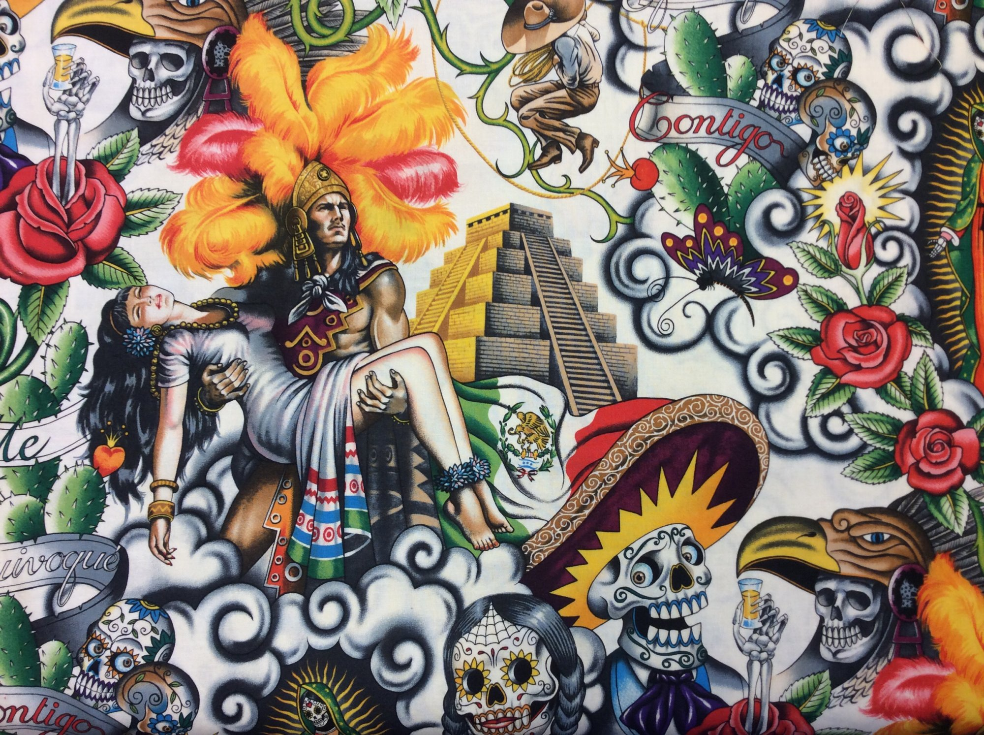 Multi-Wear Wrap - DAY OF THE DEAD by VIDA VIDA S7jgDt9i