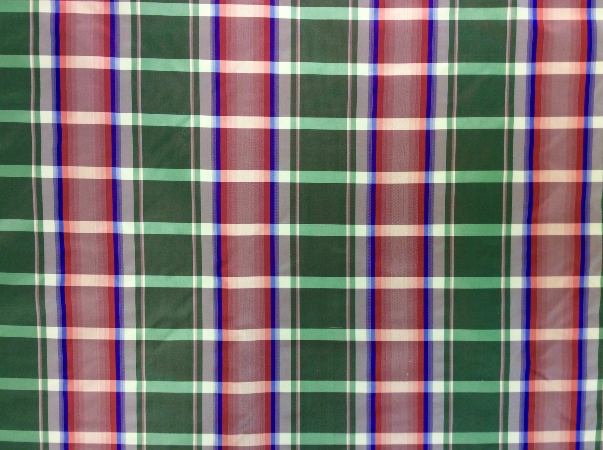 Plaid Classic Elegance 100% Silk Taffeta Fabric FM106