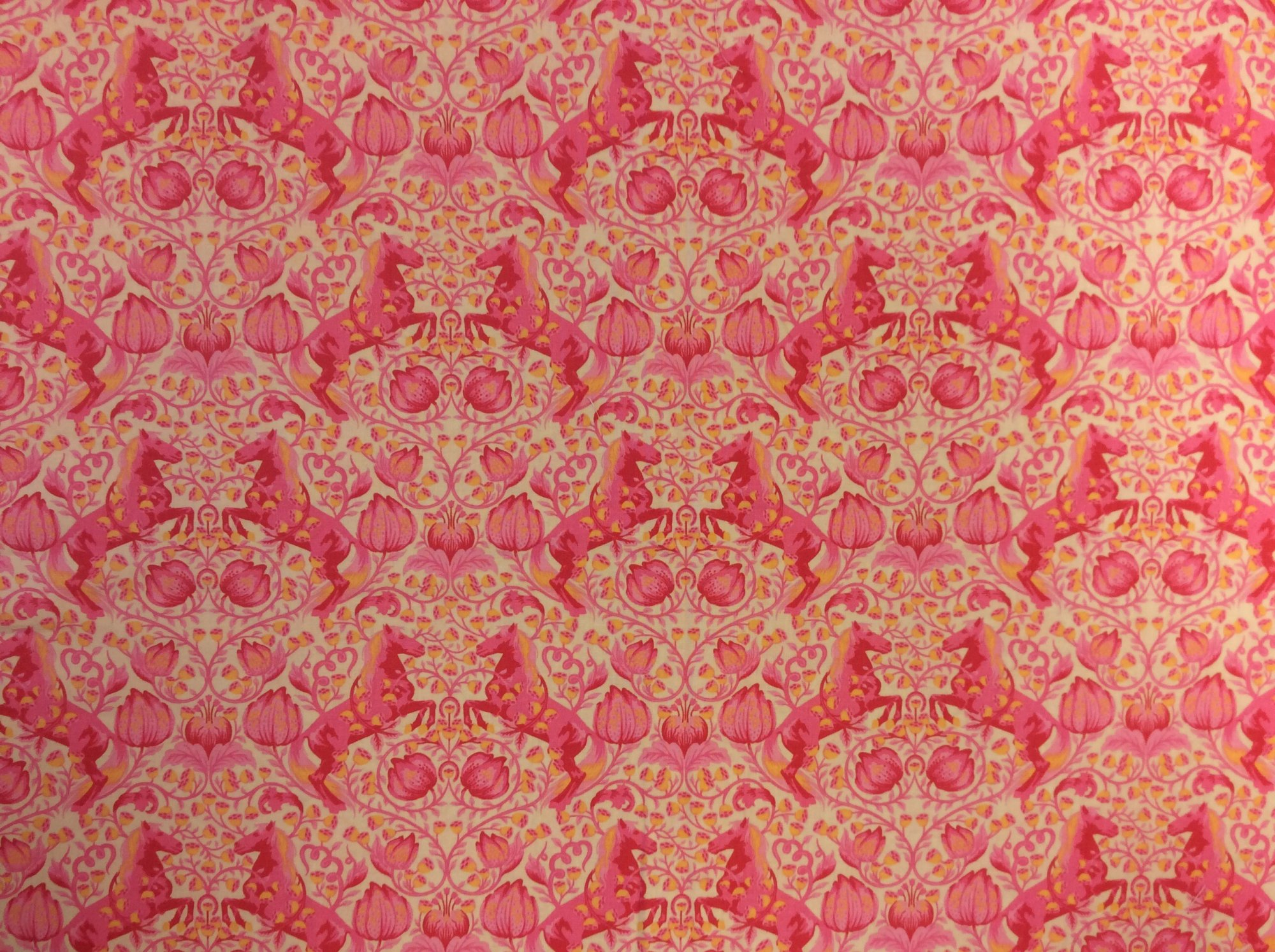FAT QUARTER! RARE OUT OF PRINT Tula Pink Fox Field Pony Play Cotton Quilt Fabric RPFTP1