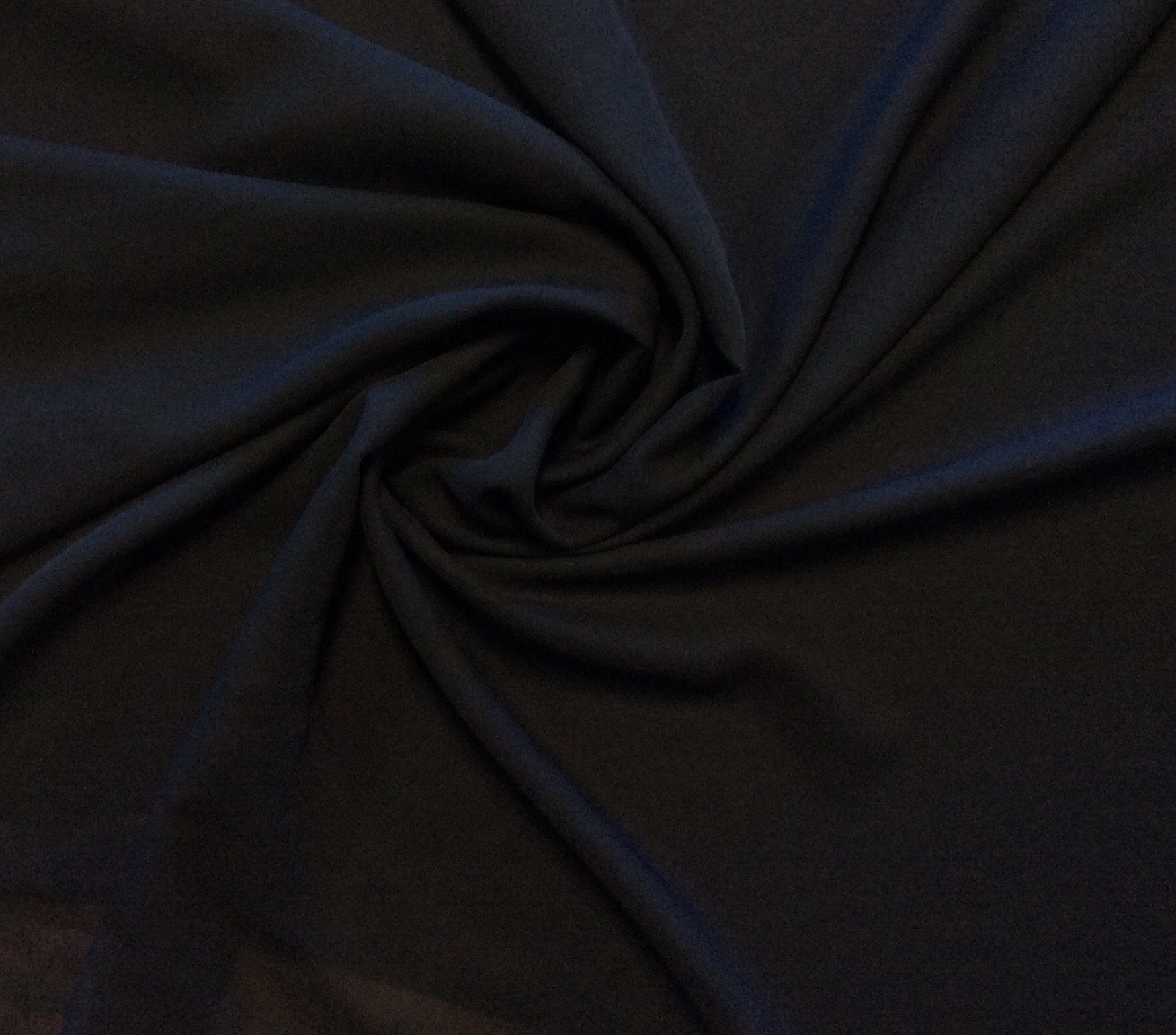 Navy Blue Midnight Polyester Georgette Semi Sheer Apparel Dress Fabric FMT19