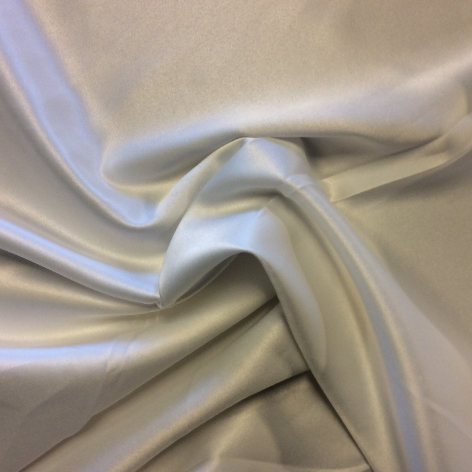 Off White Lightweight Polyester Single Faced Satin Bridal Prom Dress Fabric FM1516
