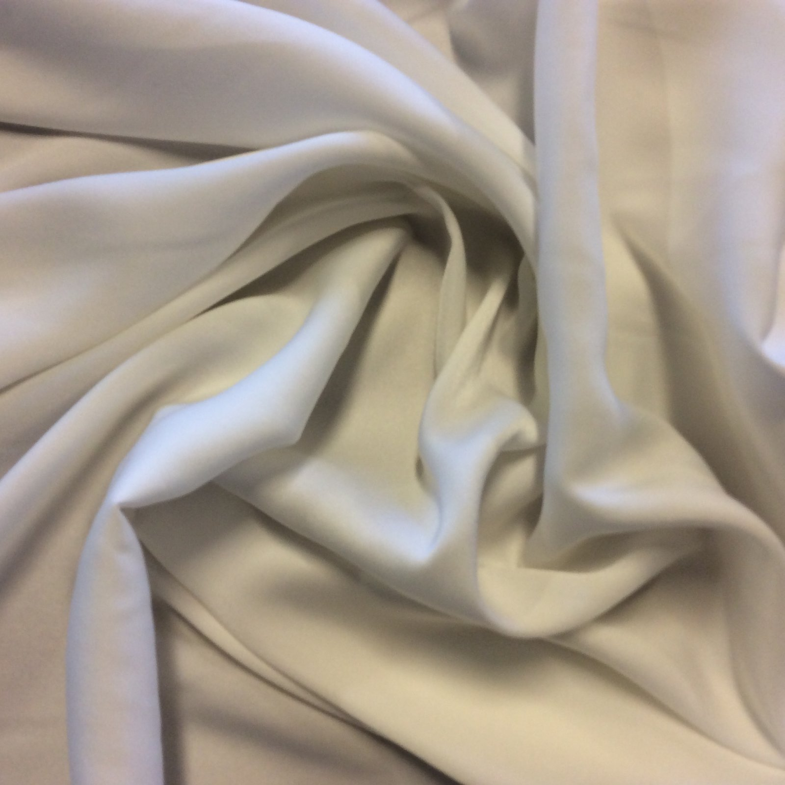 Off White Lightweight Polyester Single Faced Lining Crepe Bridal Prom Dress Fabric FM1570