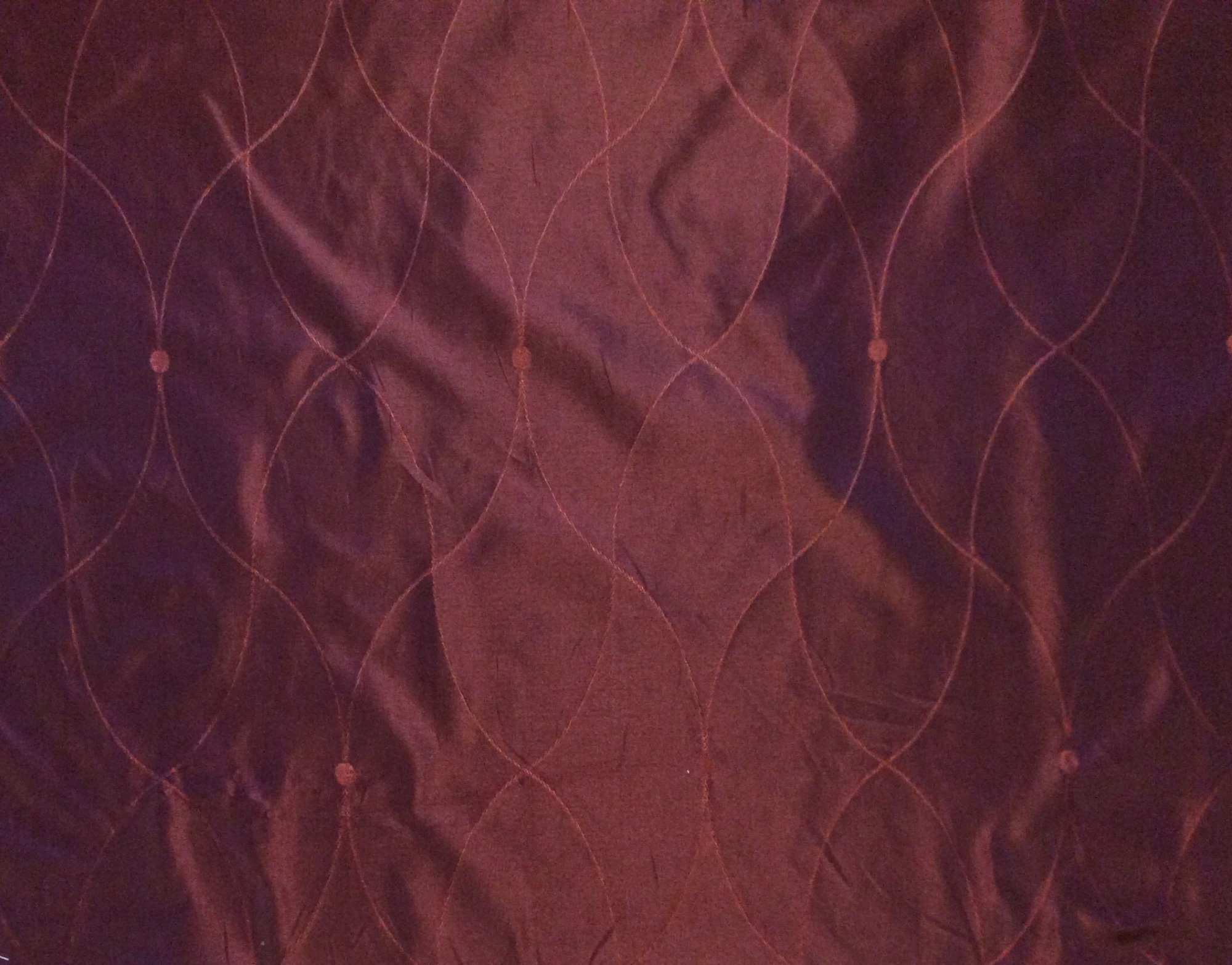 Clarence House SILK Heavy Jacquard Saint Laurent Merlot Reversible Italy Woven Silk Taffeta Fabric Drapery Fabric Upholstery Fabric CLA998