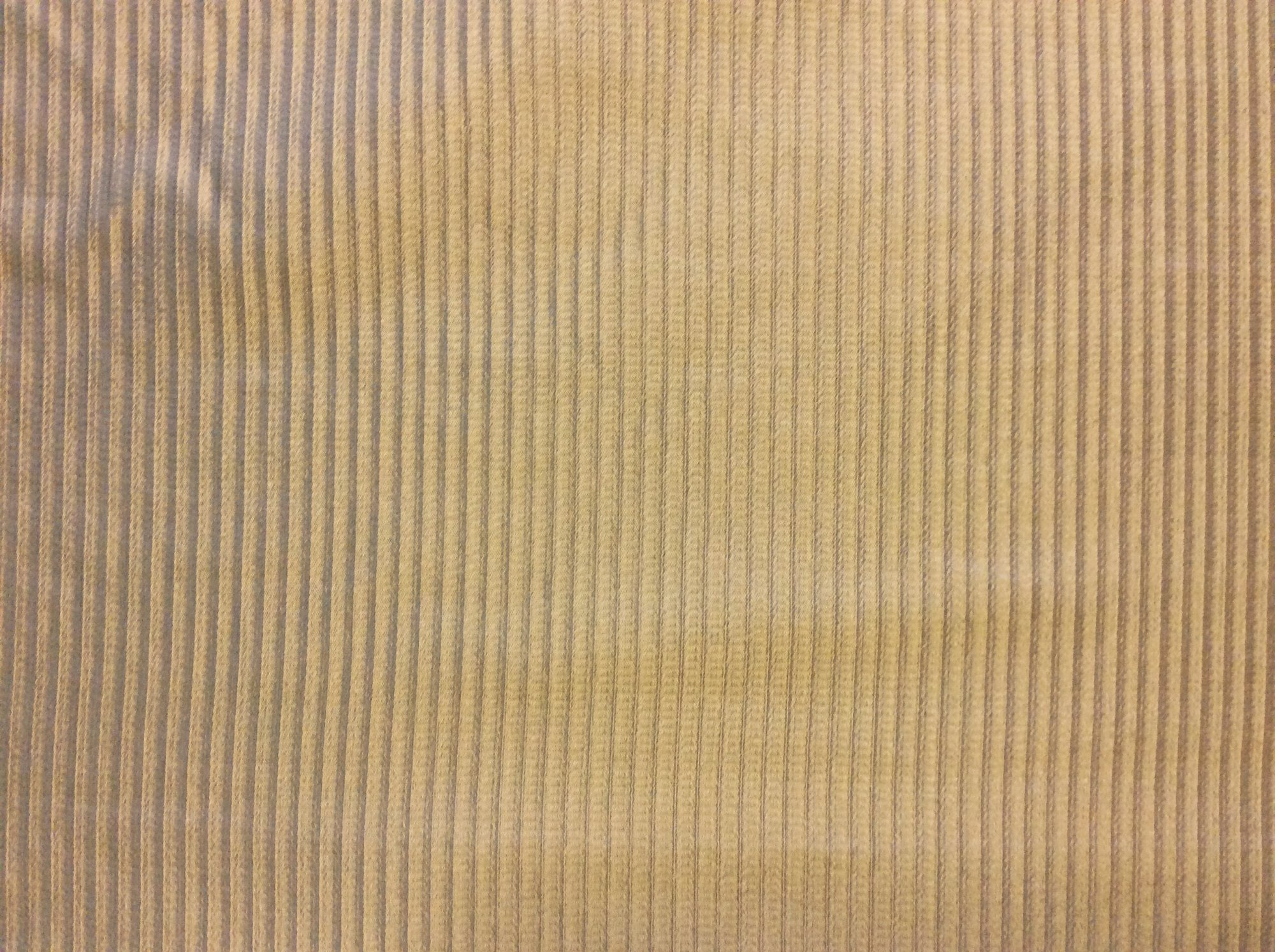 Clarence House Ribbed Stripe Gold Tone Heavy Silk Home Decor Fabric CLA171