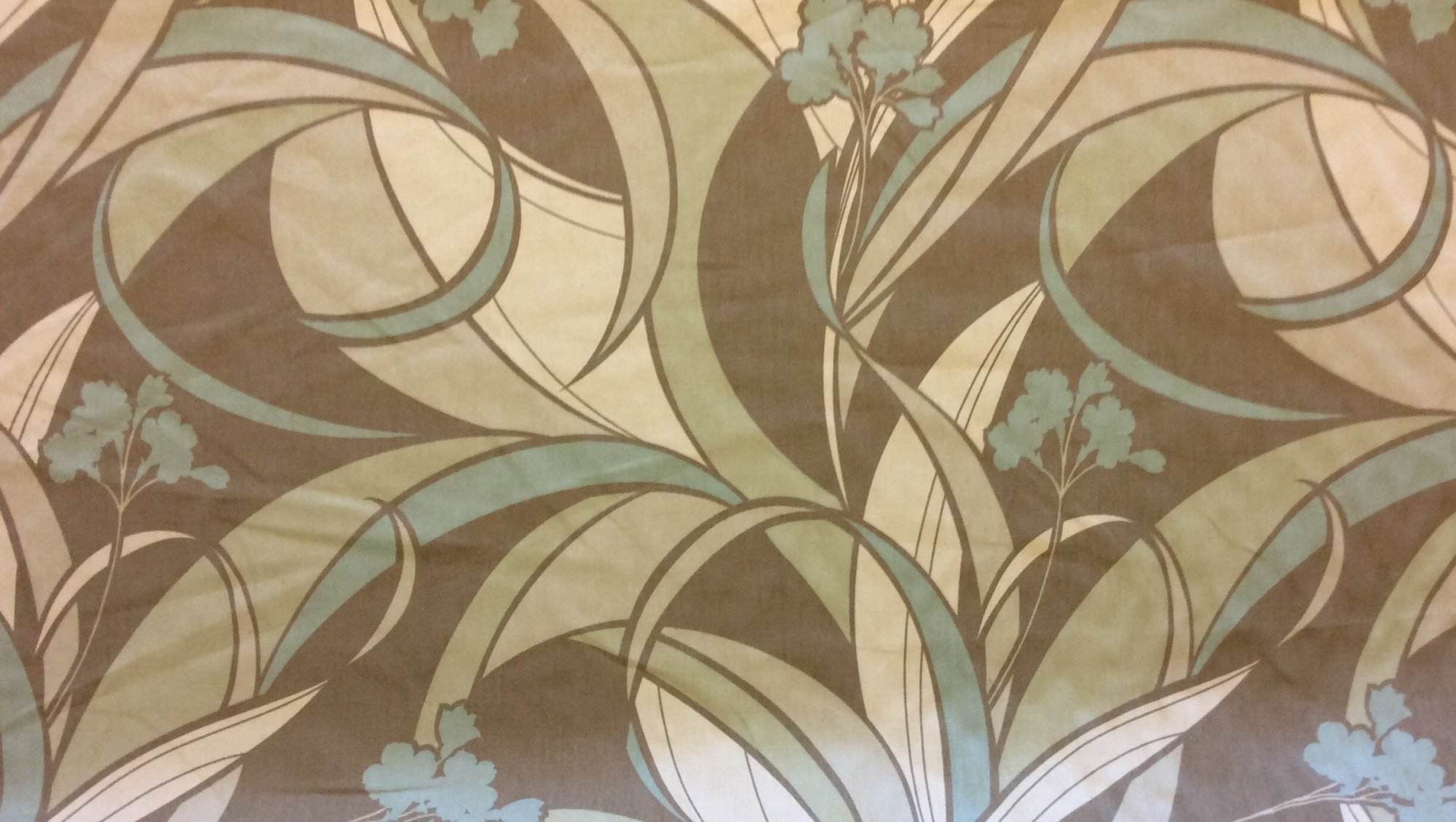 Art Nouveau Inspired Graphic Modern Sage Neutral Soft Floral Home Decor Upholstery Fabric FM9020