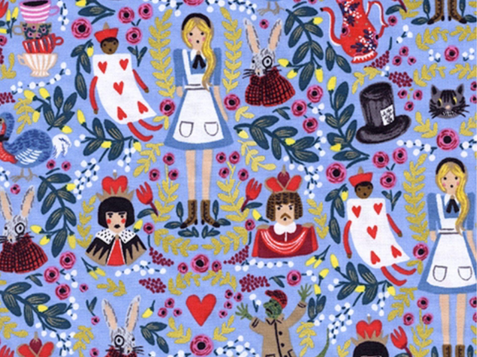 Cotton + Steel Rifle Paper Wonderland Collection Alice in Wonderland Cotton Quilt Fabric