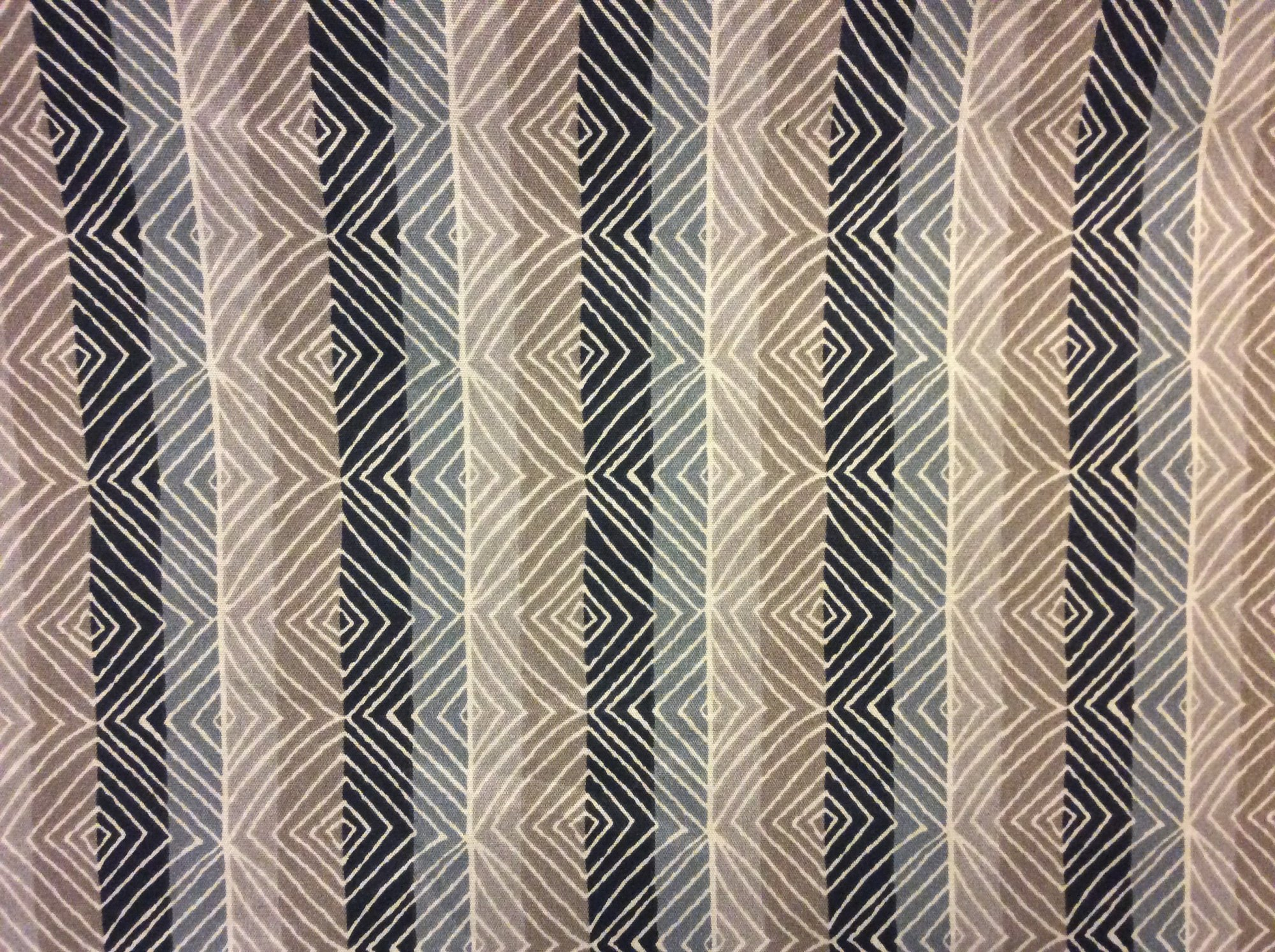 Ikat Stripe Print Famous Maker Acrylic Soft Brown Black Taupe Gray Tan Diamond Pattern Outdoor Fabric 584