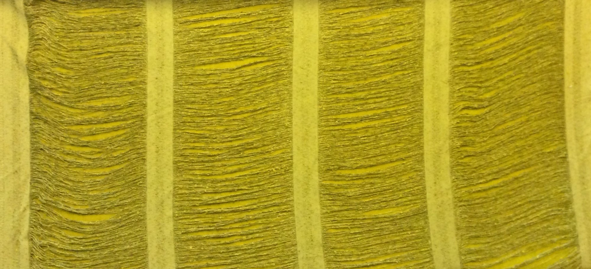True Vintage Chartreuse Yellow Green Austrian String Lace Blind Curtain Home Decor Fabric By the Yard TRVG1