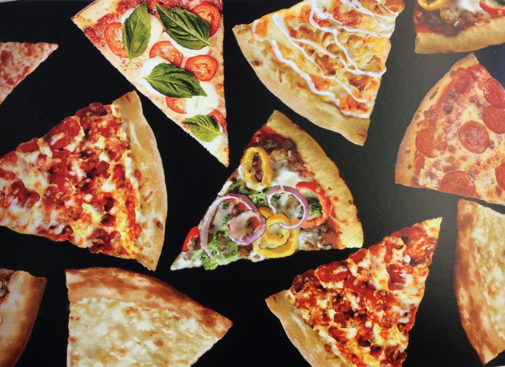 Food drink and kitchen theme for Space pizza fabric