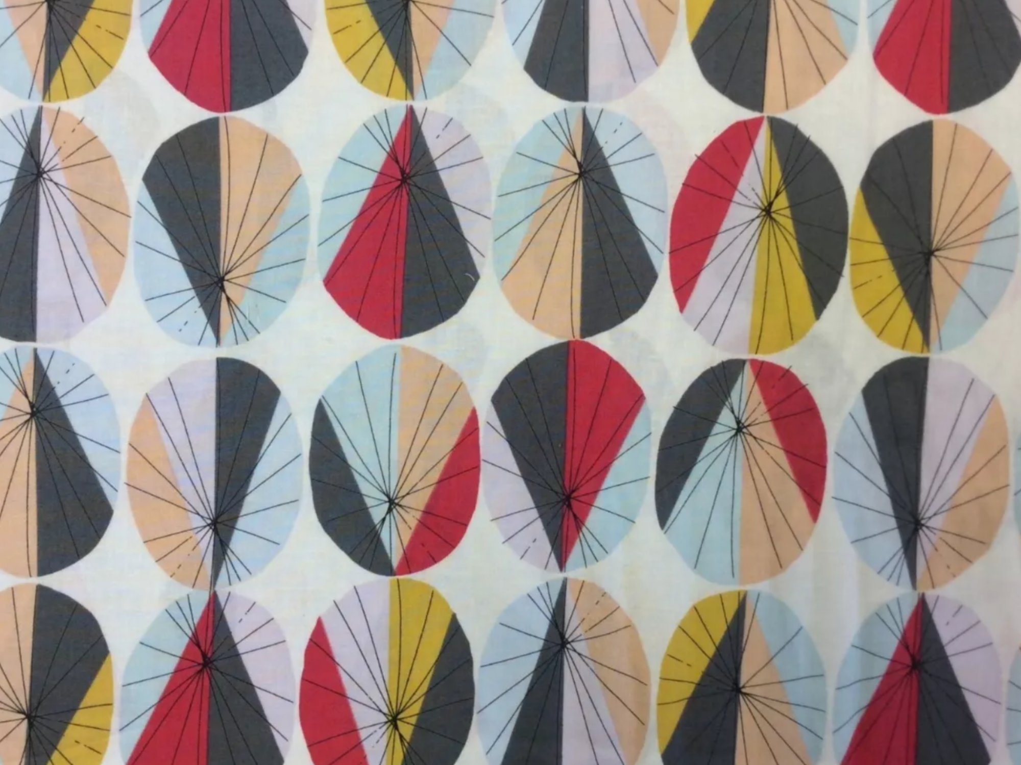 Jane Makower United Kingdom Retro Sputnik England Retro Geometric UK Cotton Quilt Fabric JM10