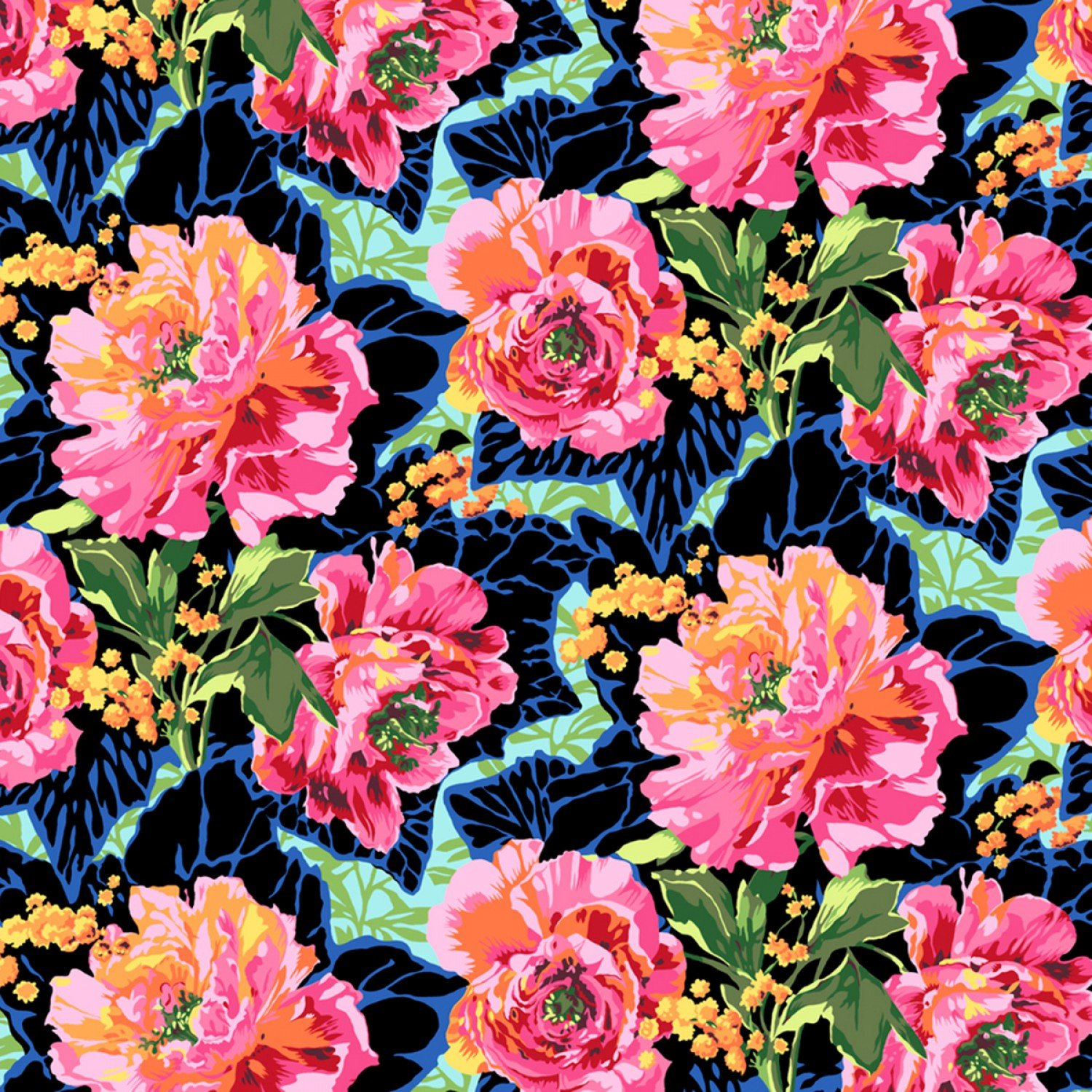 COMING SOON! Floral Peony Retro Mix  Cotton Quilt Fabric