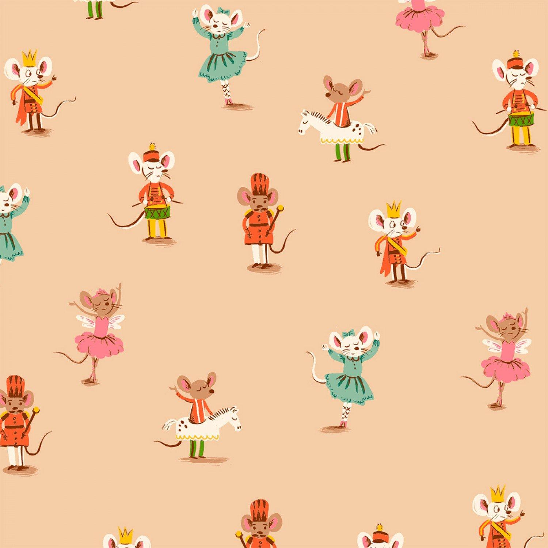 Heather Ross Sugar Plum Nutcracker Mouse Cotton Quilt Fabric FT161