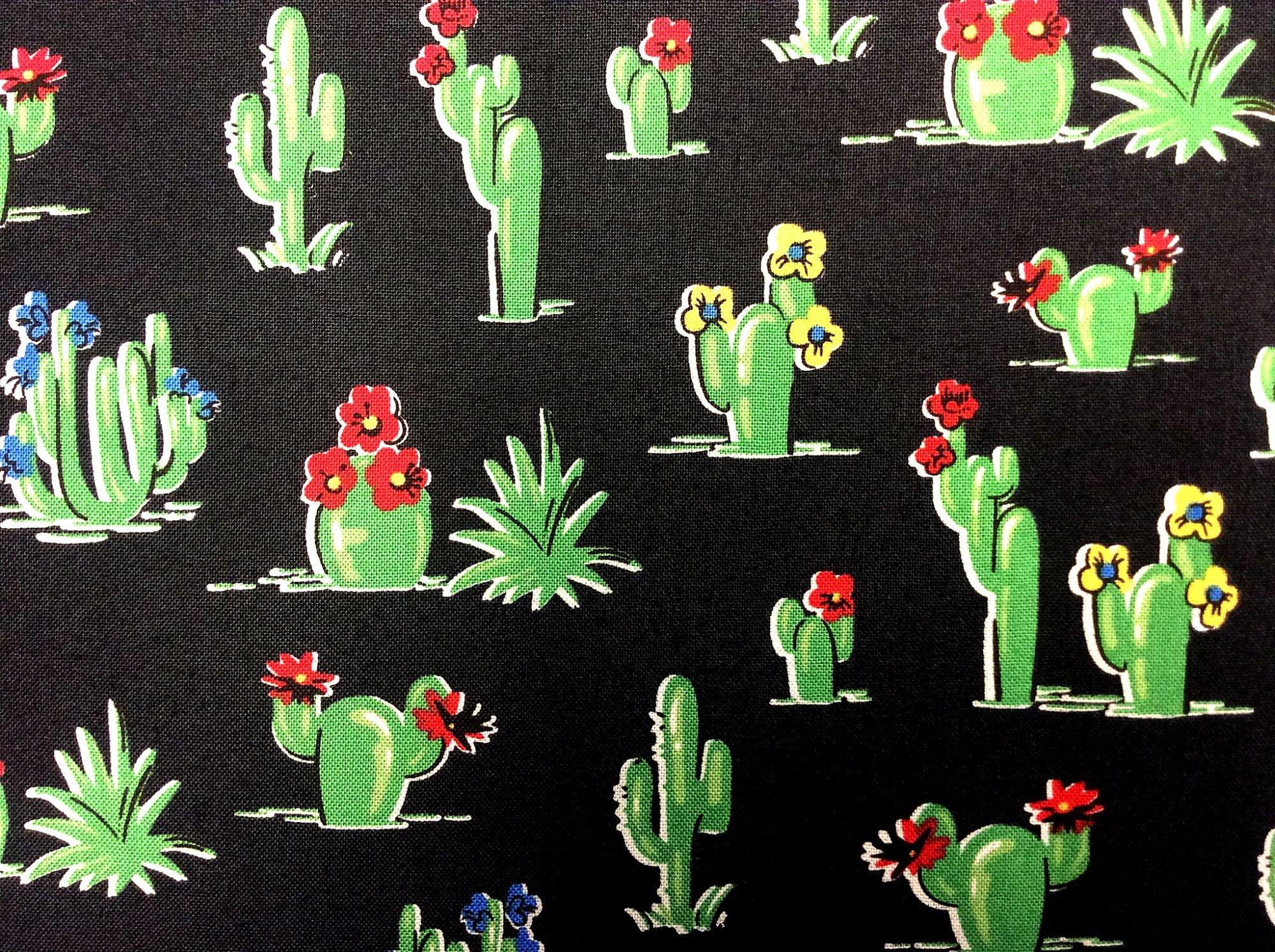 Cactus Mexico South of the Border Vintage Style Mexico Cotton Quilt Fabric WI108