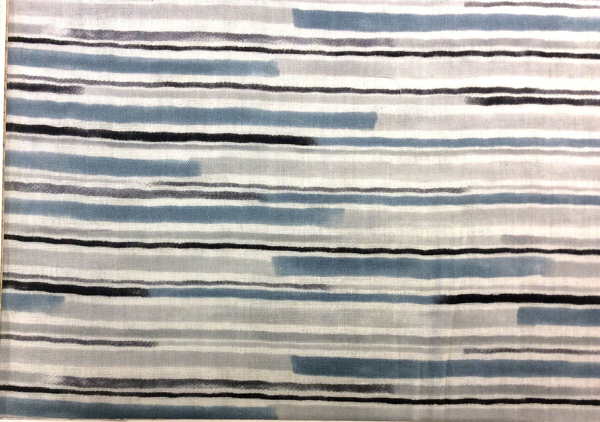 Japanese Asian Kokka Watercolor Stripes Shades of Grey Double Gauze Cotton Fabric Apparel Fabric Quilt Fabric QH27