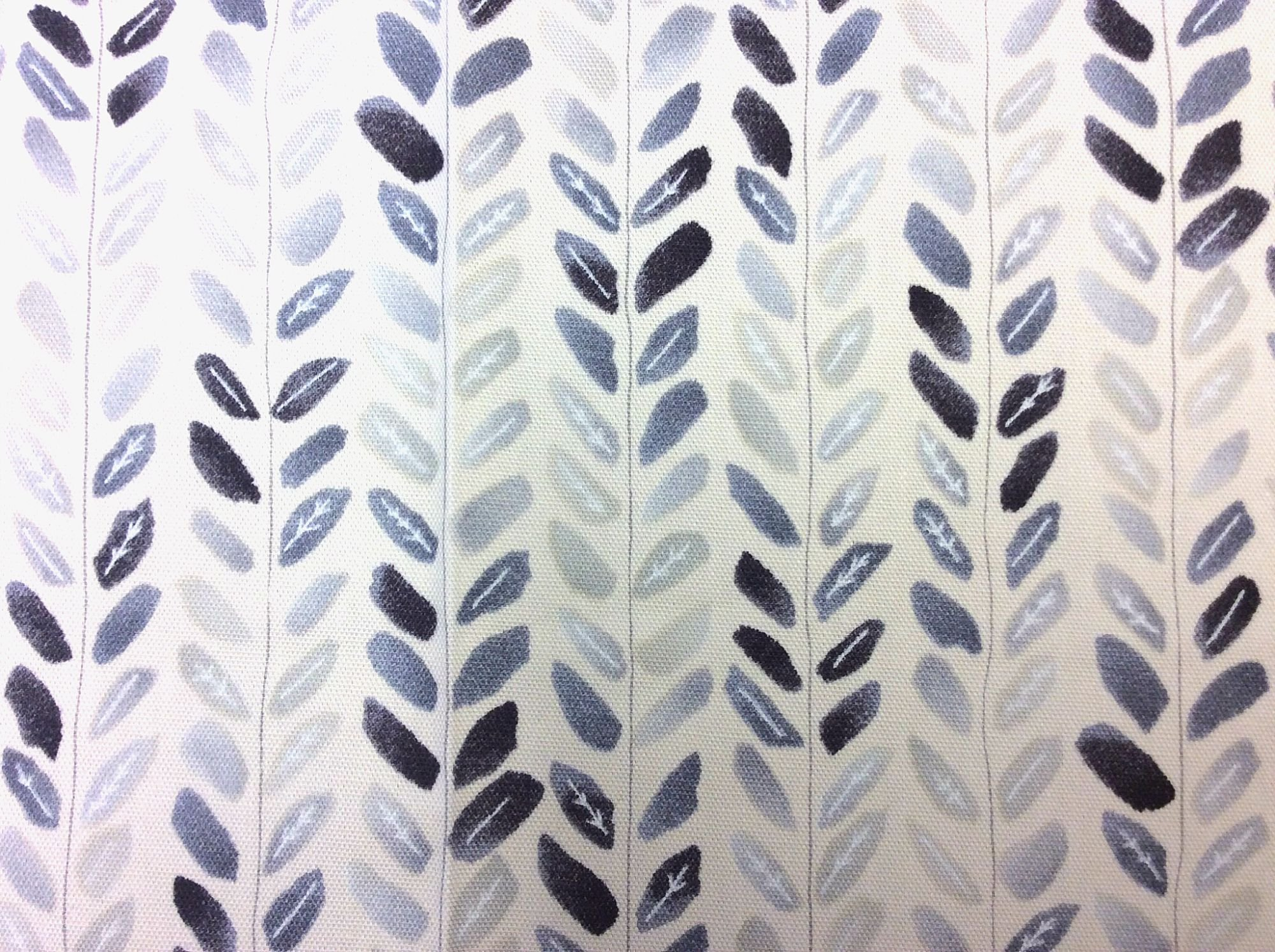 Japanese Asian Watercolor Leaves Little Leaf Grey Shades Oxford Cloth Cotton Fabric QH33