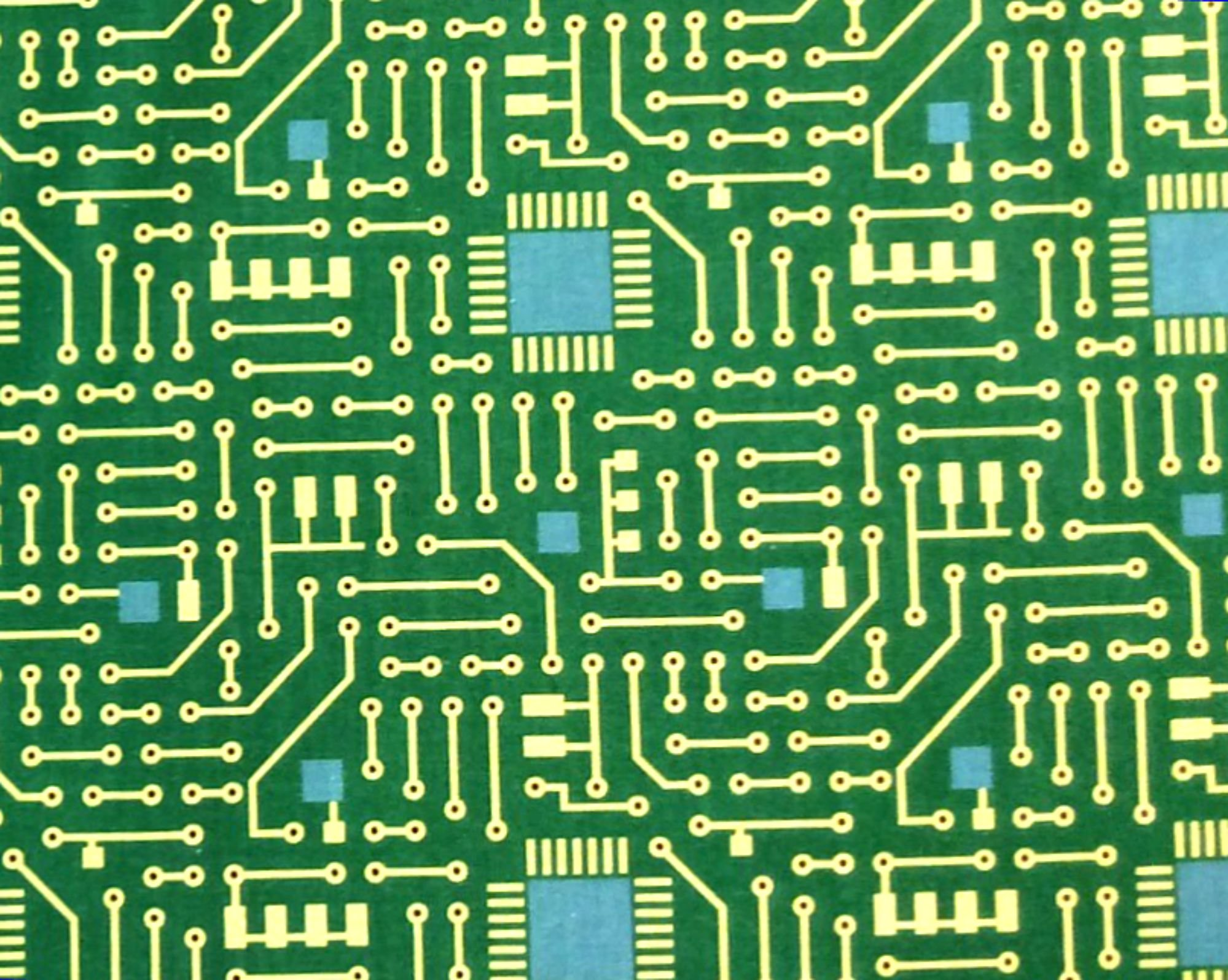 Electronics Retro CIrcuit Board Analog STEM Engineering 100% Cotton BE29