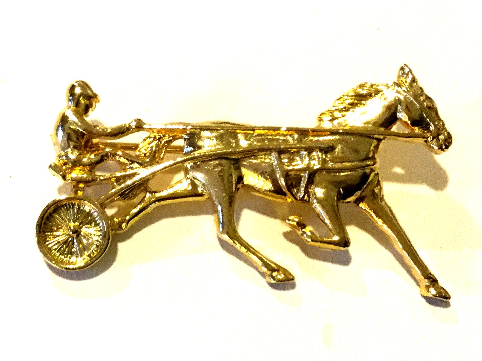 Costume Jewelry Pin Horseracing
