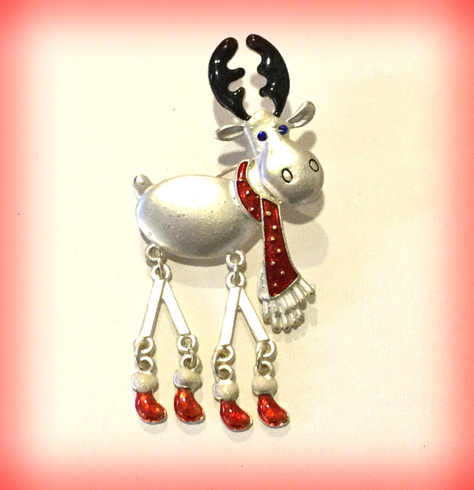 Costume Jewelry Pin Reindeer