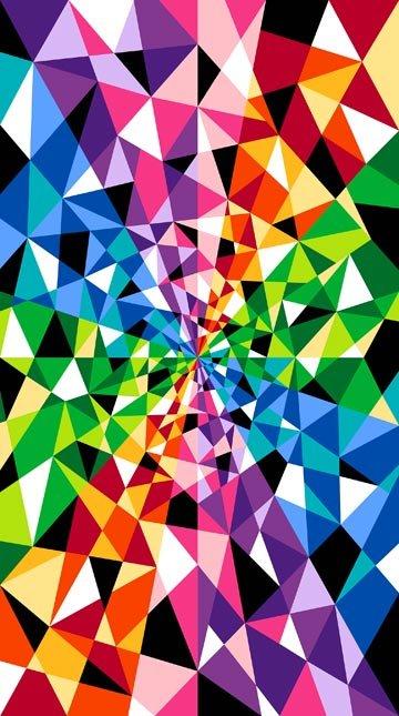 Spectrum Gems Color Works Amazing Cotton Quilt Fabric PANEL NC15