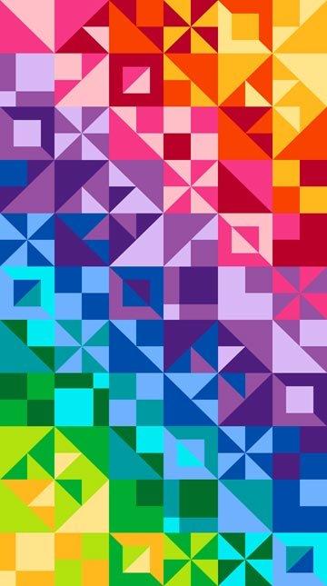 Spectrum Gems Color Works Amazing Cotton Quilt Fabric PANEL NC19