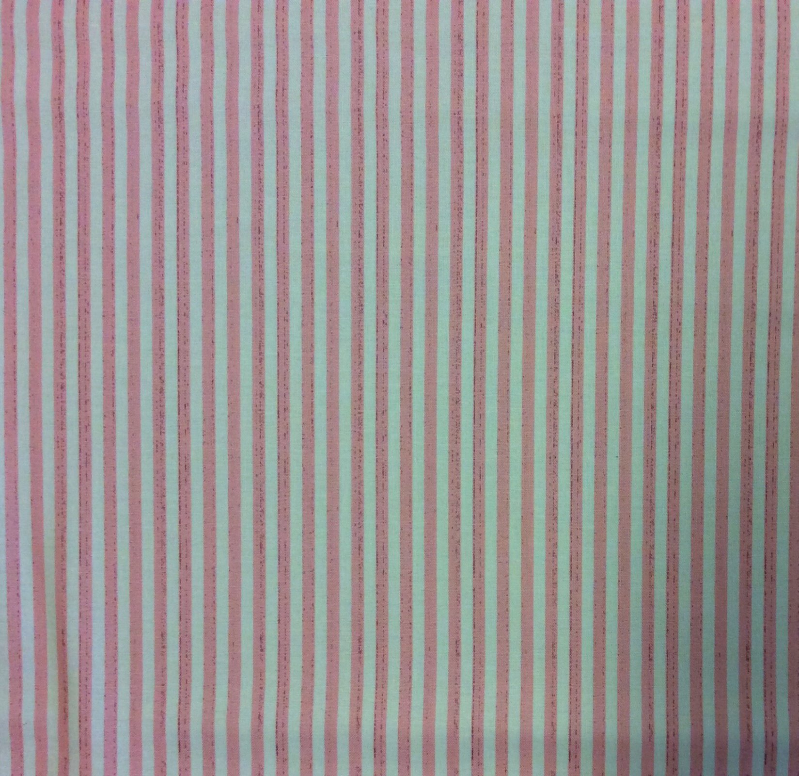 NM08. Light Pink and Cream Distressed Stripe Cotton Quilting Fabric