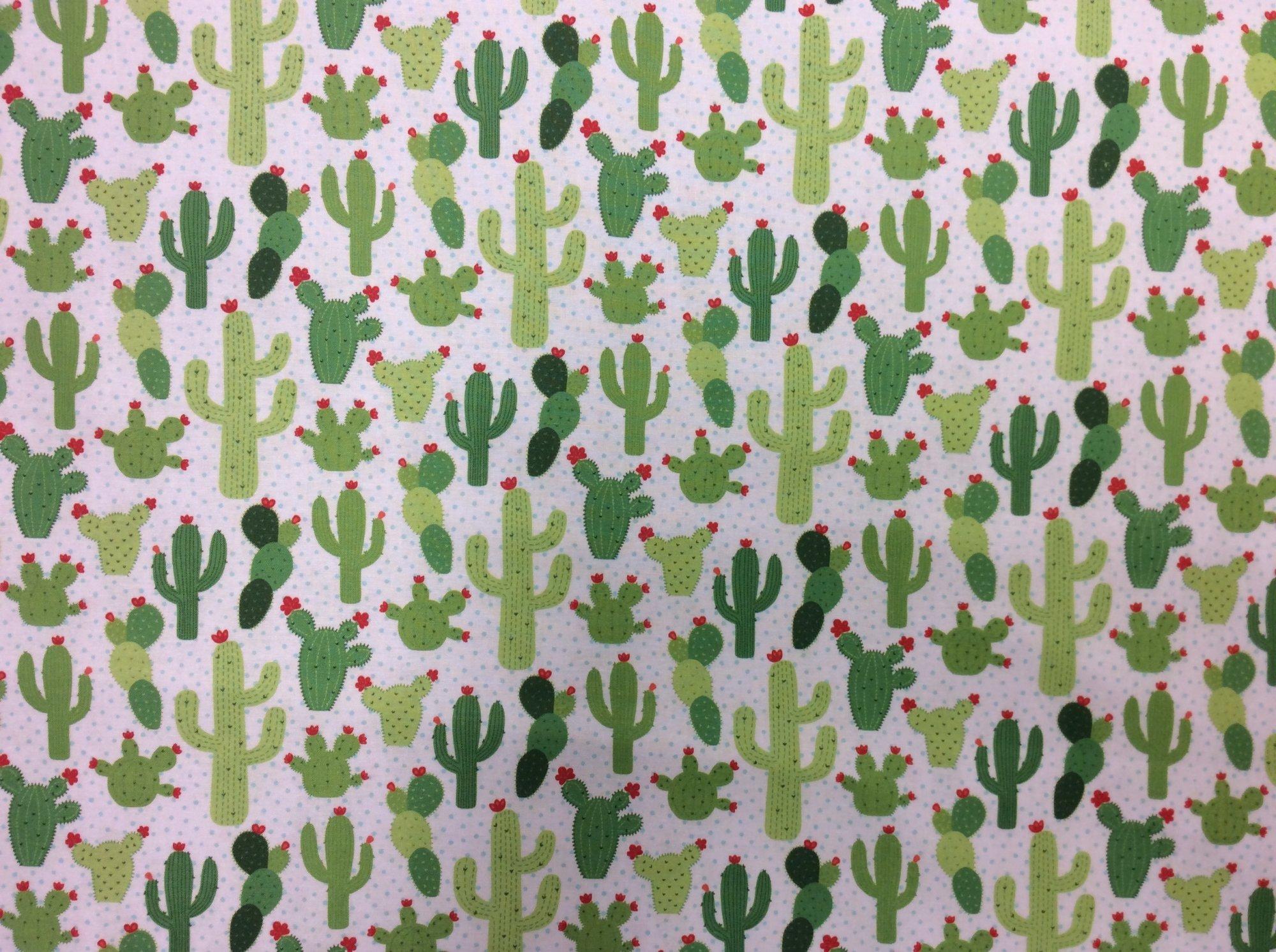 Saguaro Cactus Desert Succulent Cacti Cotton Quilt Fabric Nc14