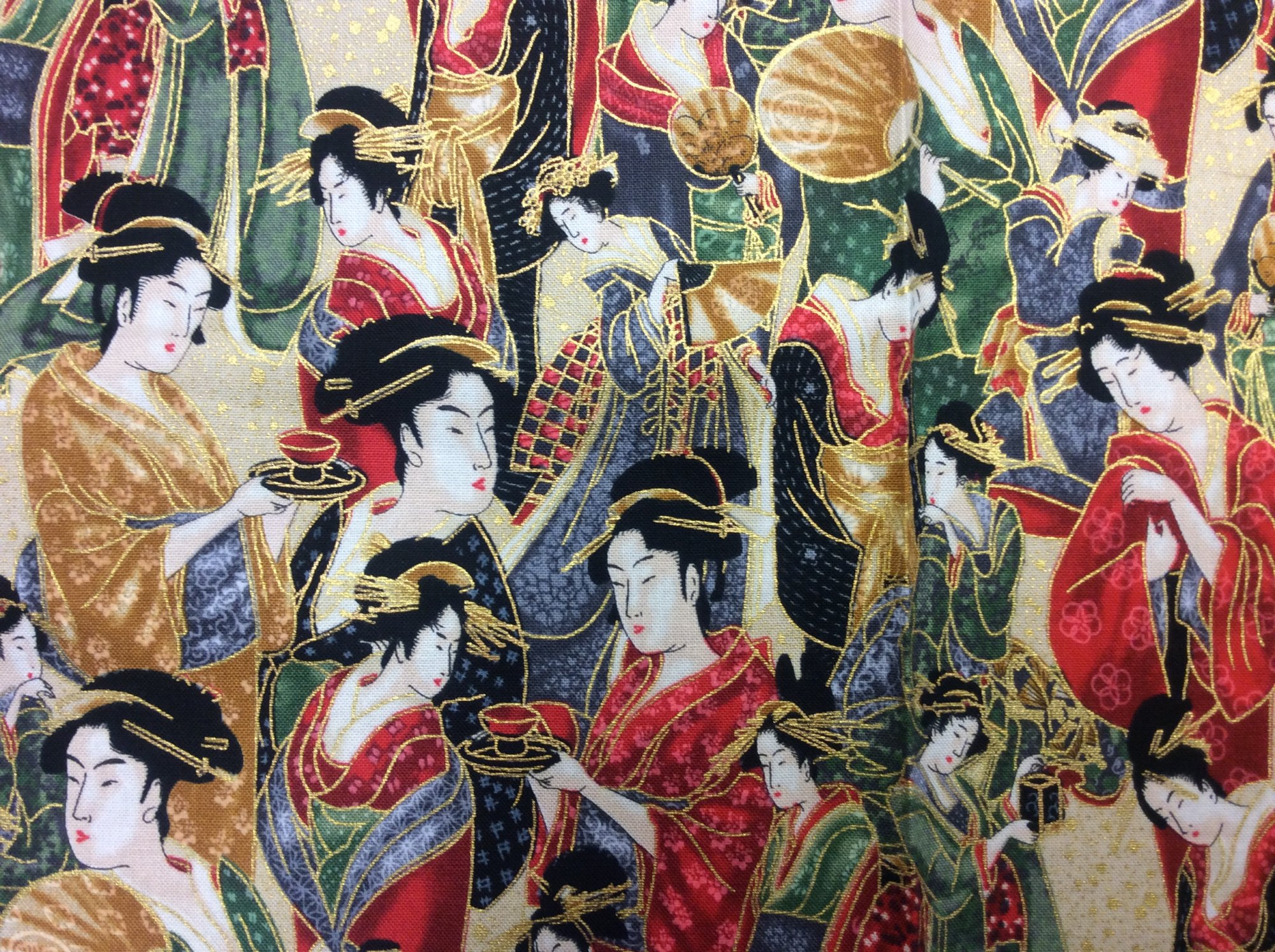 FAT QUARTER! Geisha Japanese Asian Cotton Quilt Fabric RPFRK179