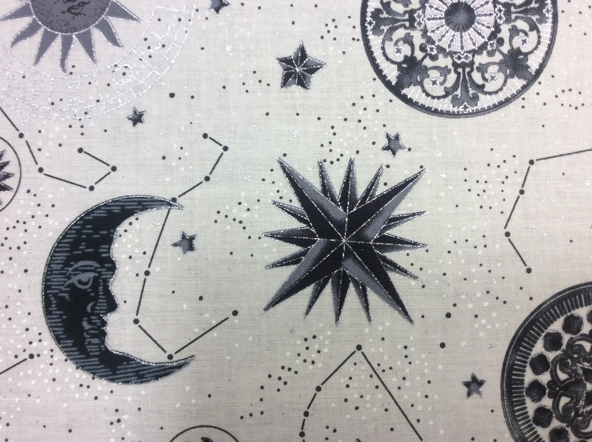 Zodiac Stars Planets Galaxy Star Signs Astronomy Cotton Quilt Fabric HM20