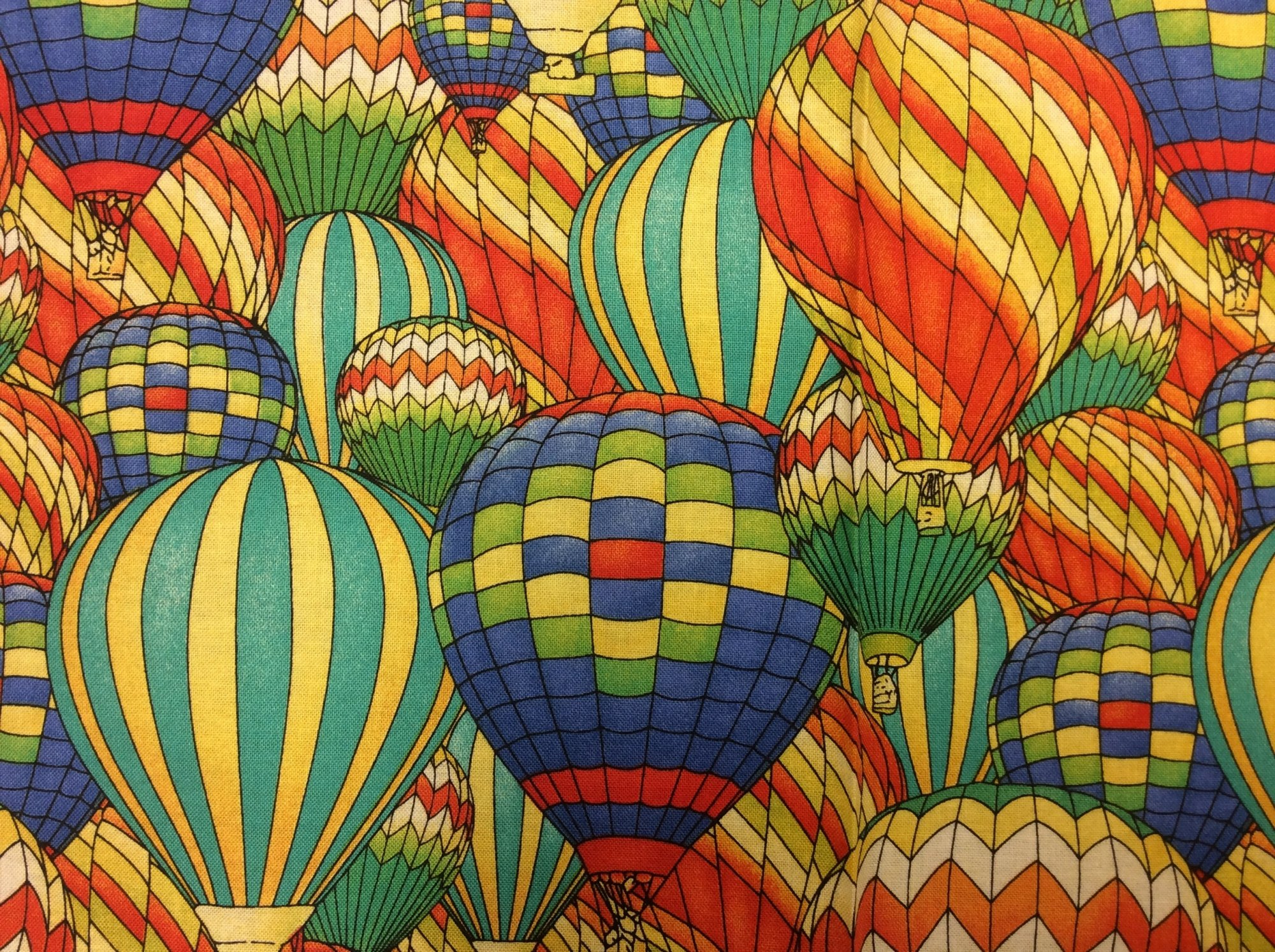 Hot Air Balloons Adventure Awaits Cotton Quilt Fabric WI105