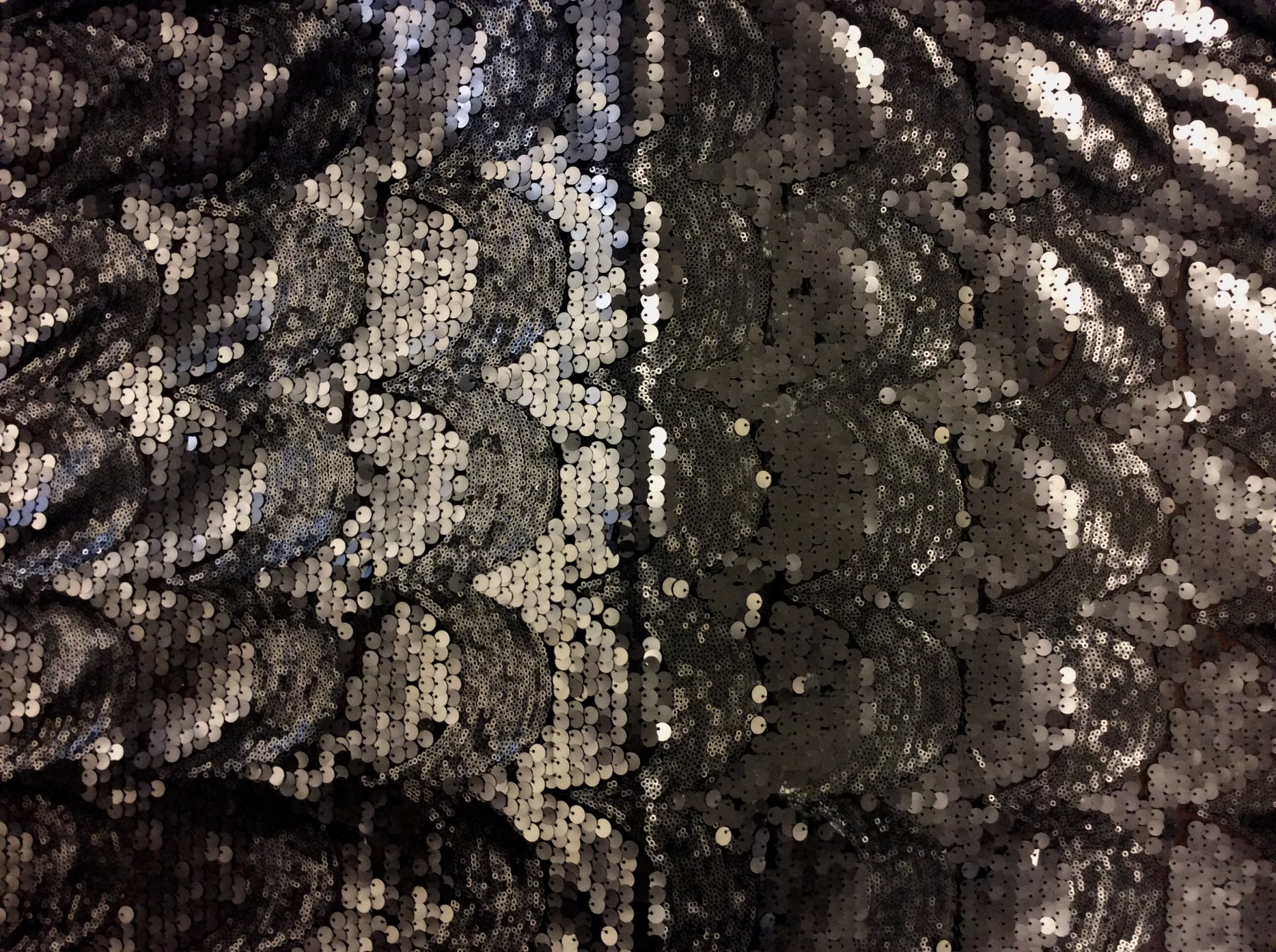 Grey Matte Sequin Couture Apparel Fabric RMCC7376