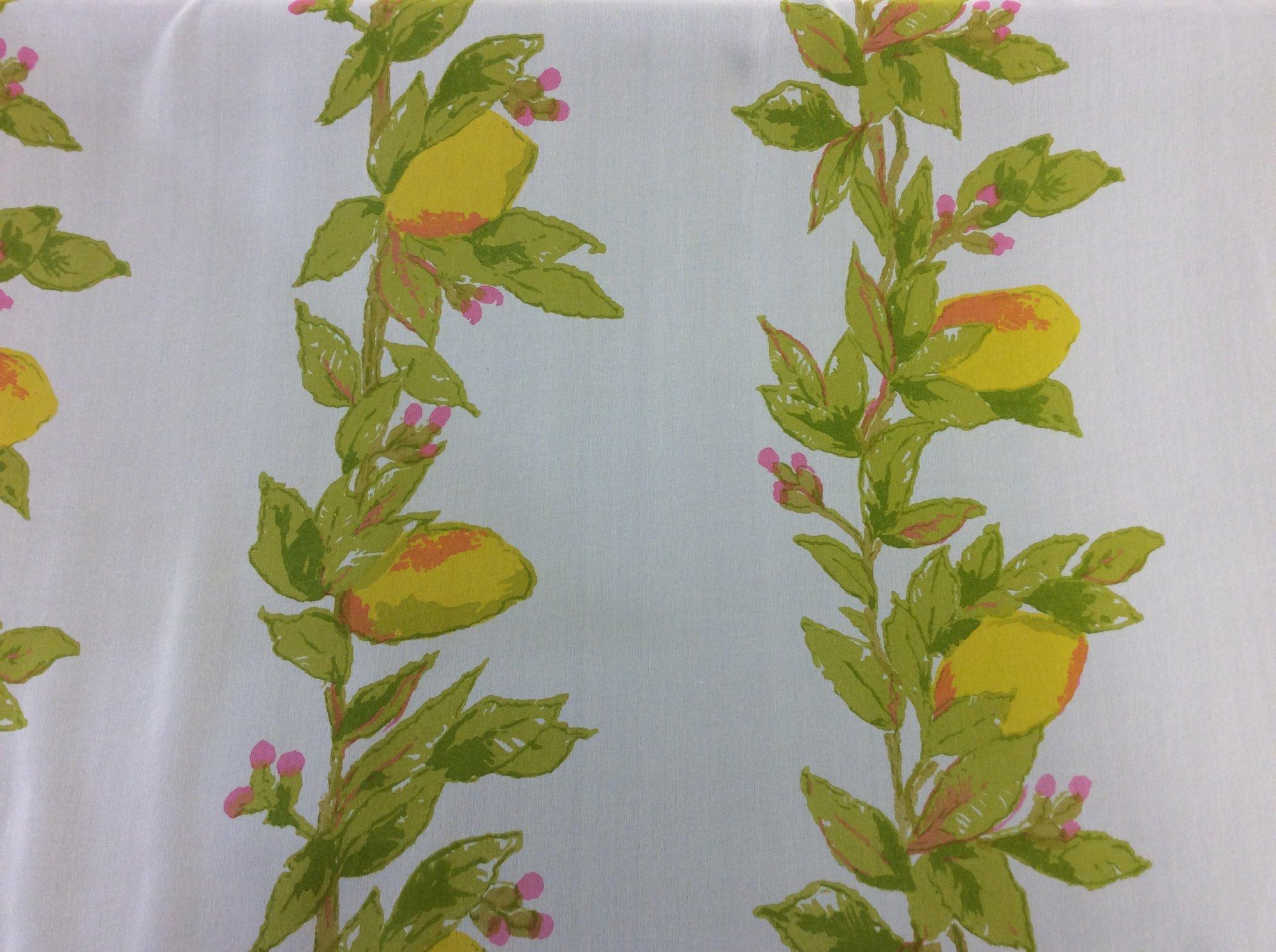 Silk Lemons Sheer Silk Apparel Fabric RMBU2967