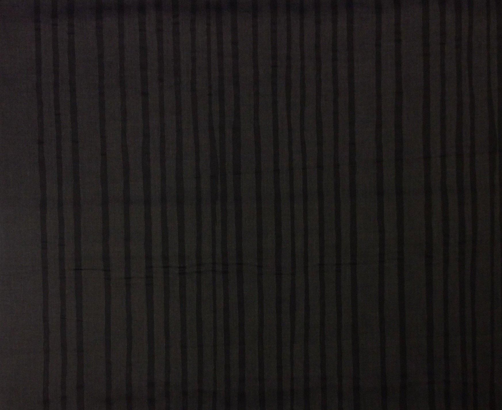 Nani IRO Japanese BEAU Yin Yang Saaa Saaa Noir Cotton Sateen by Naomi Ito SK34