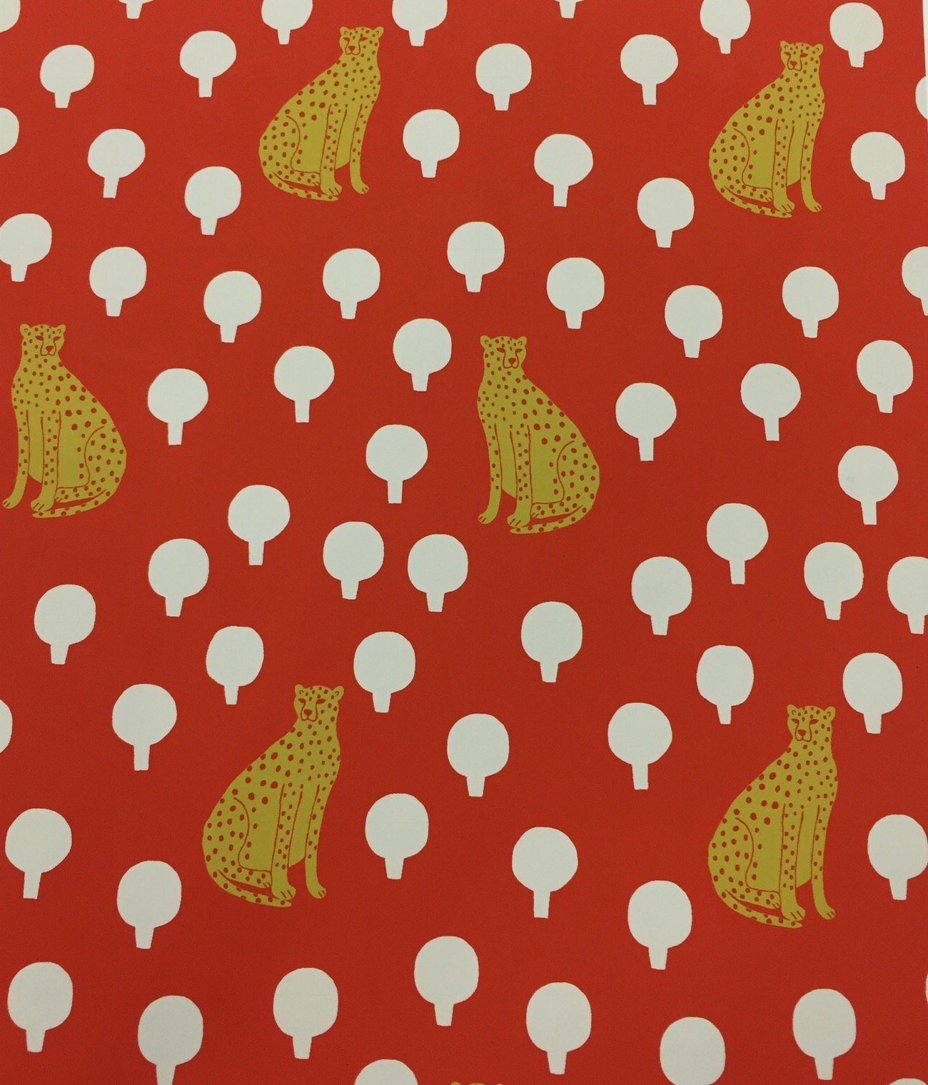 COMING SOON MARCH 2018! Cheetahs Sarah Golden Retro Cotton Quilt Fabric