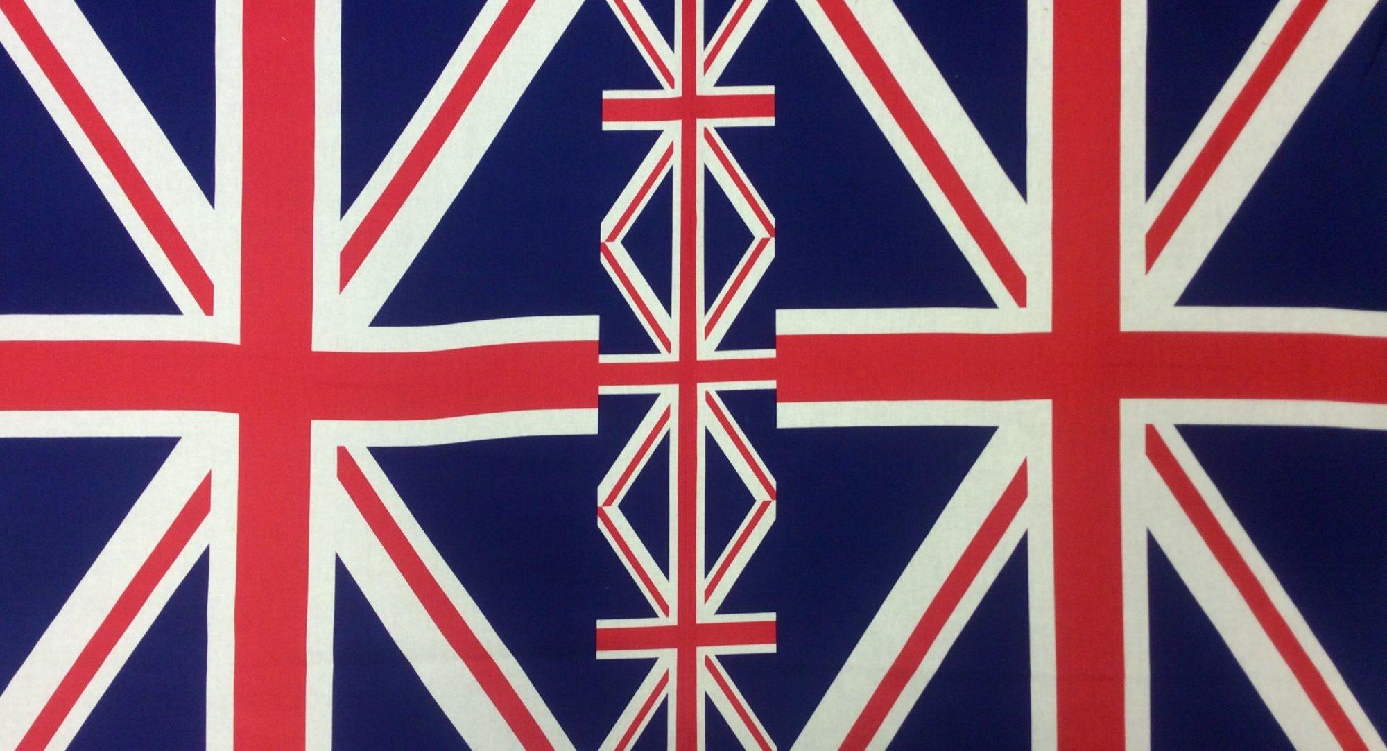 UNION JACK FLAG PANEL Kokka Japanese Cotton Poplin Fabric Quilt Fabric SK33