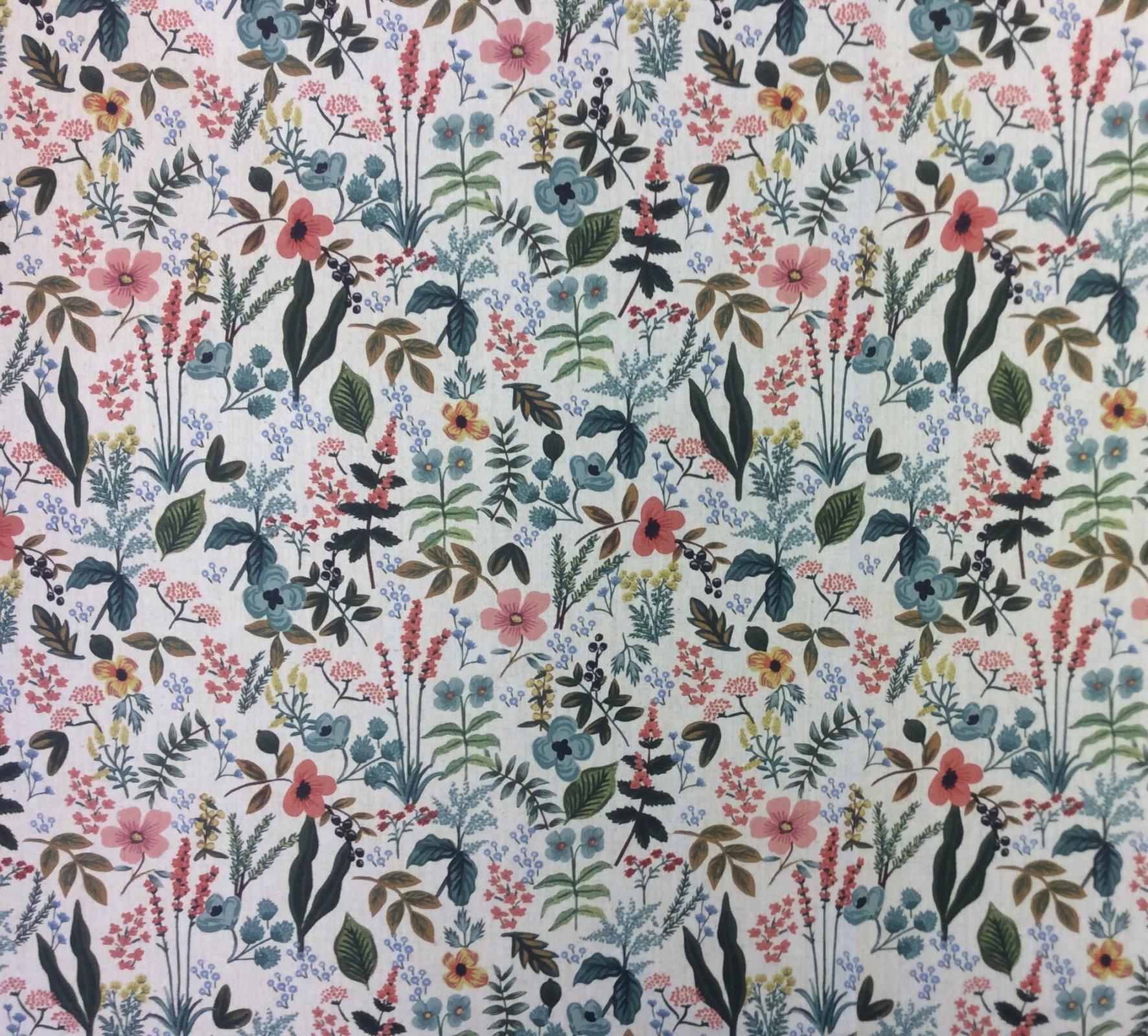 CTN92. Rifle Paper Company Herb Garden Natural Canvas Cotton Linen Fabric