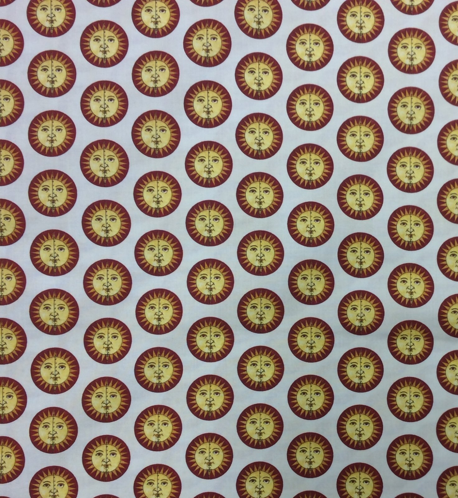 Sunshine Zodiac Galaxy Space Tan Sun Faces Quilting Cotton Fabric FT158