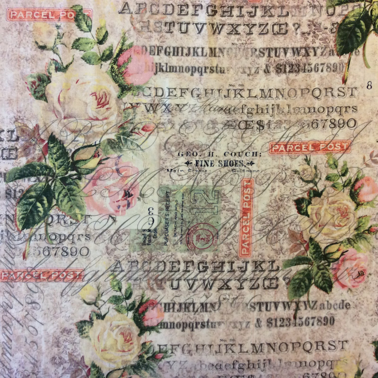 Science Entomology Botany Roses Postal French Journal Collecting Cotton Quilt Fabric WE142
