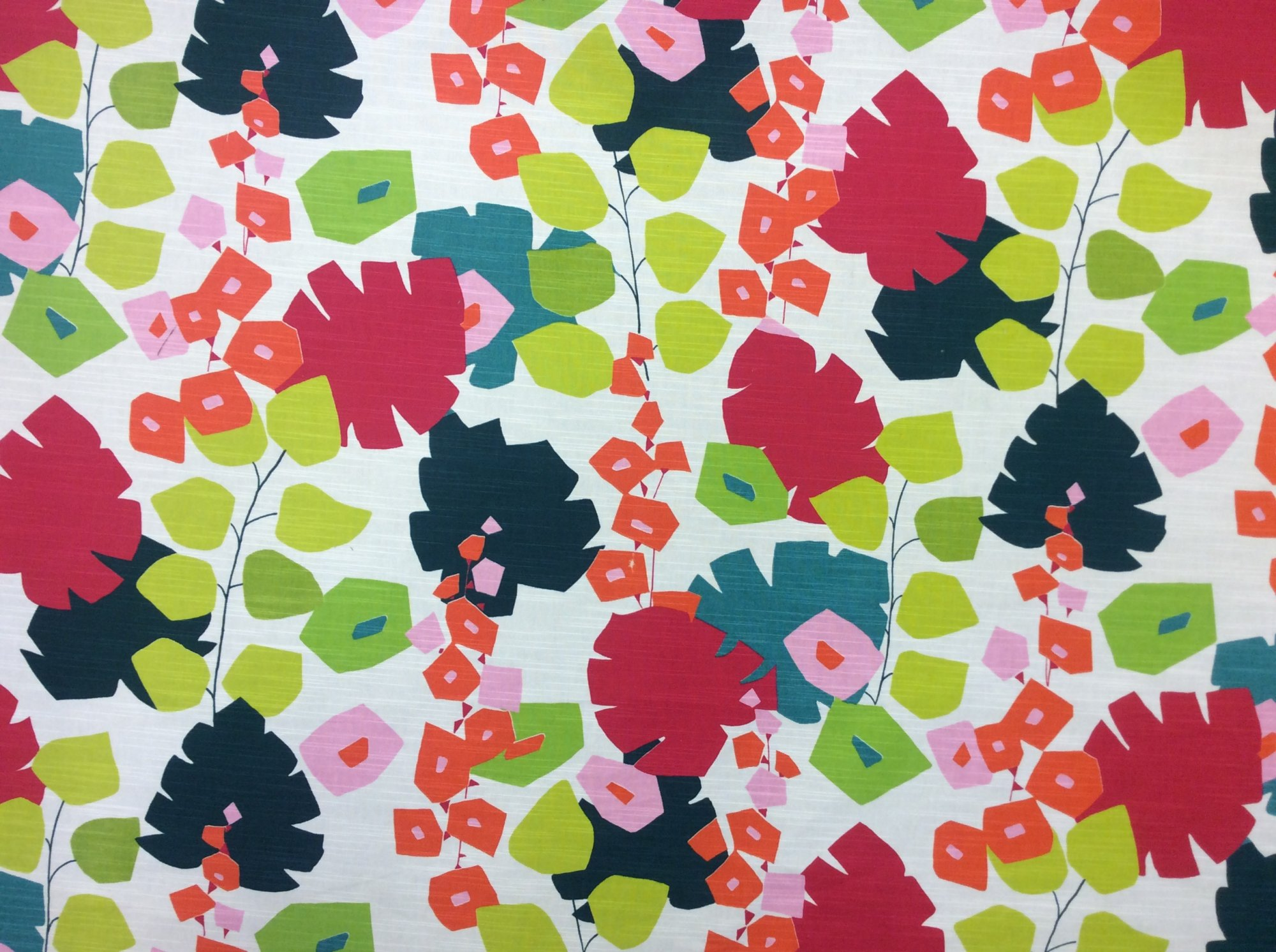Annie Selke Block Floral Home Decor Cotton Upholstery Fabric OR134