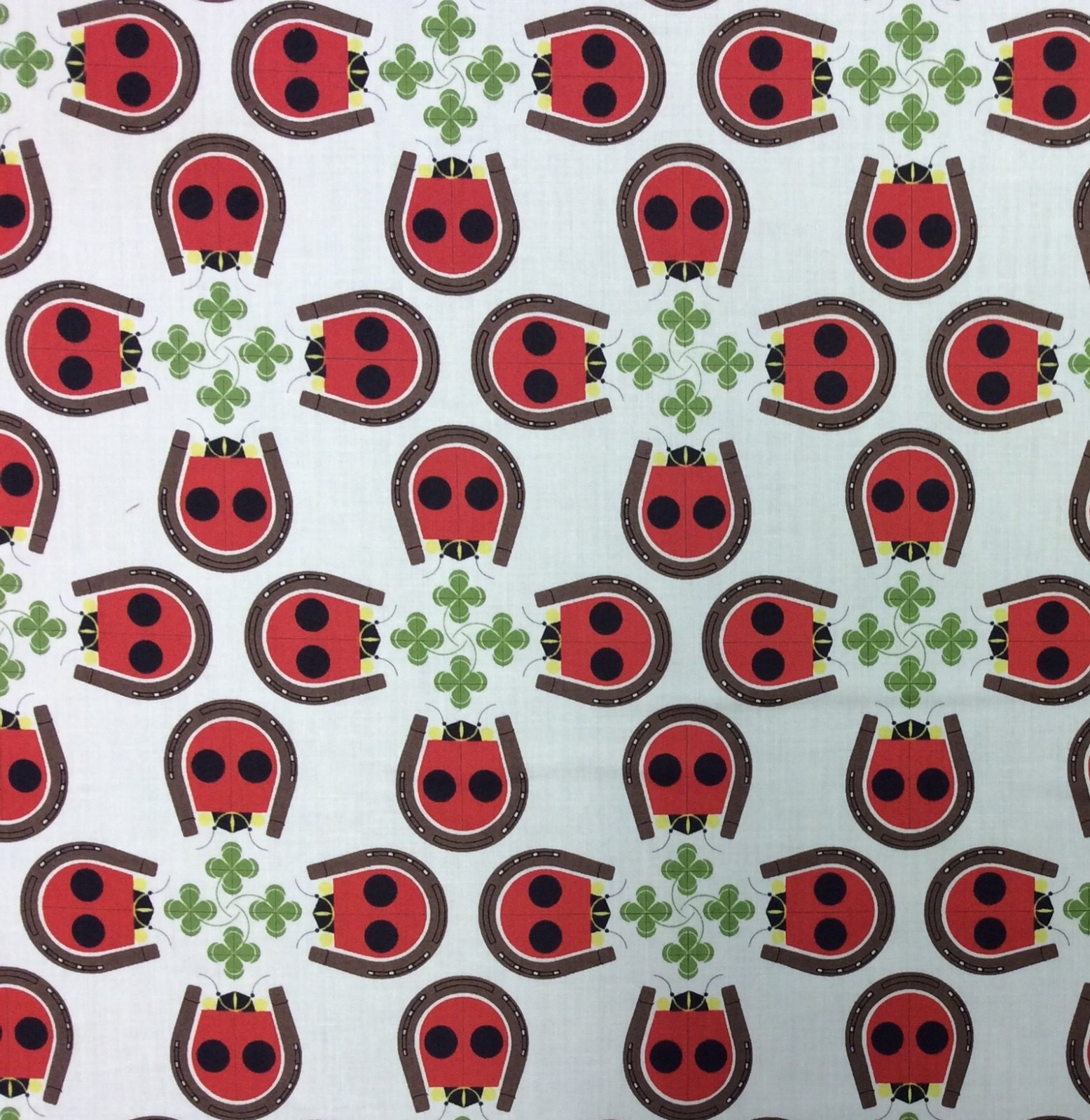 Charley Harper Lucky Ladybug Backyard Lady Bug Insect Cotton Organic Quilt Fabric CHB77