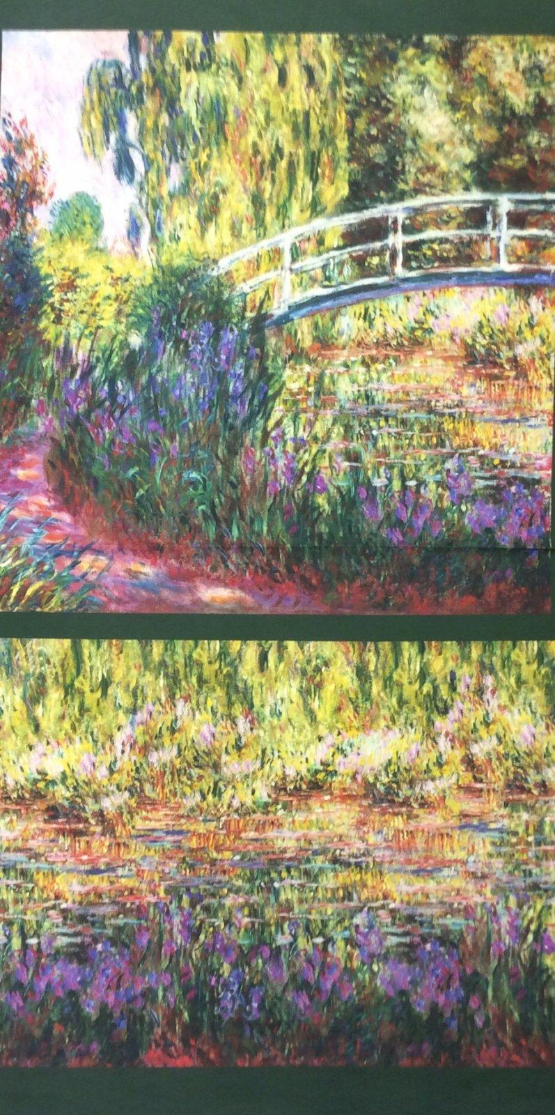 Claude Monet Water Lillies Cotton Quilt Fabric  RK183