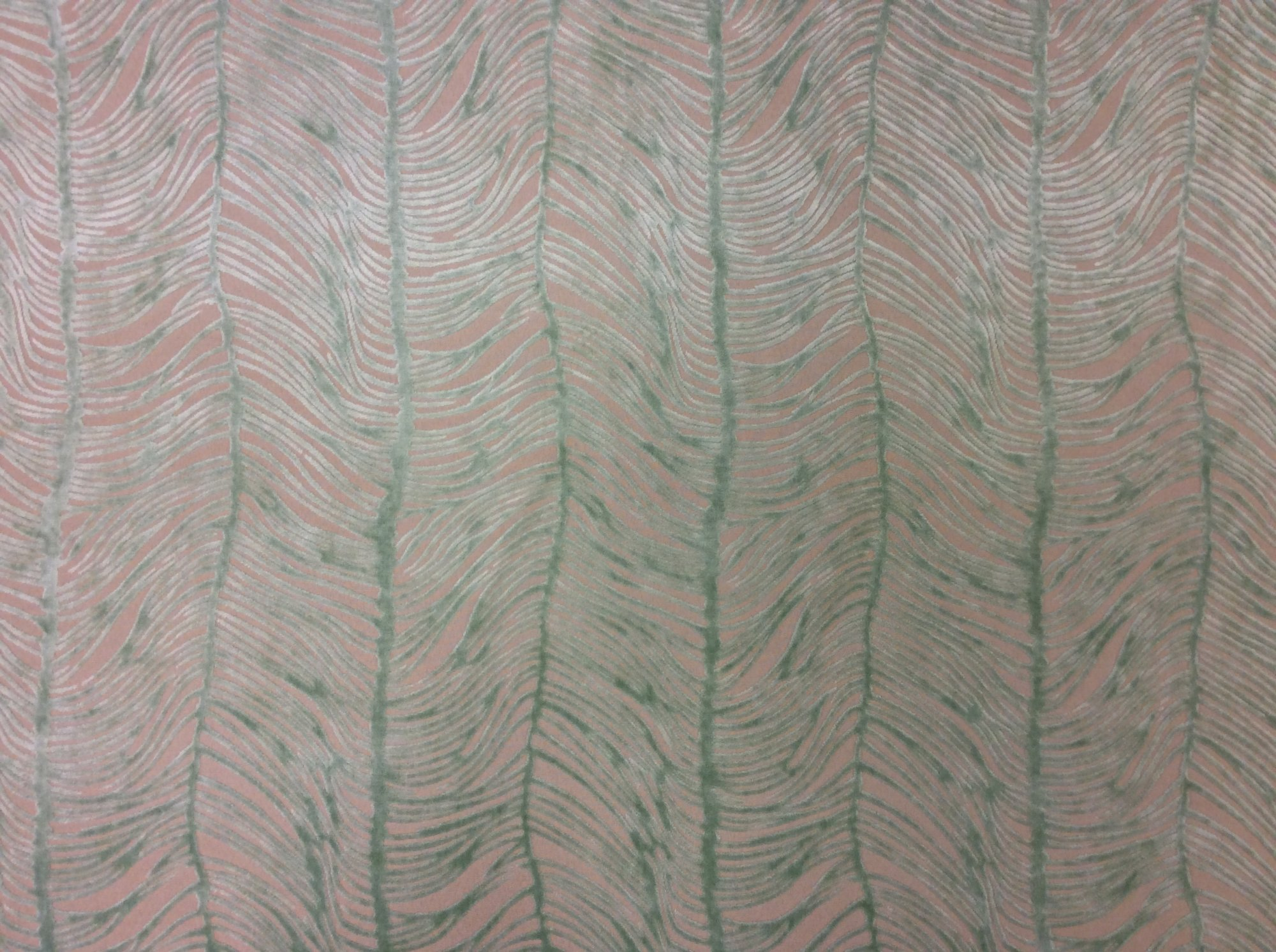 Peacock Plume Luxurious Cut Velvet Mint Green Heavy Velvet Upholstery Fabric LHD151-F