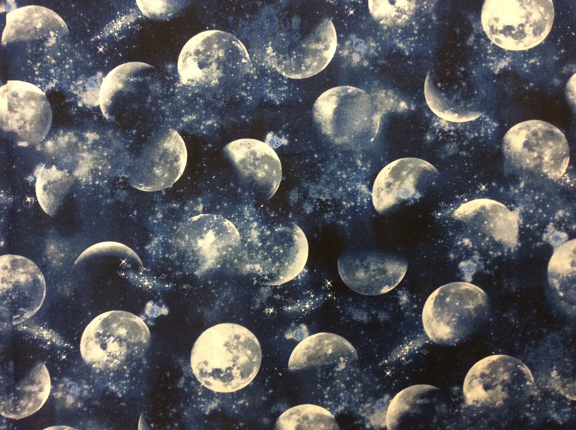 Outer Space Moon Galaxy Stars Cotton Quilting Fabric FT168