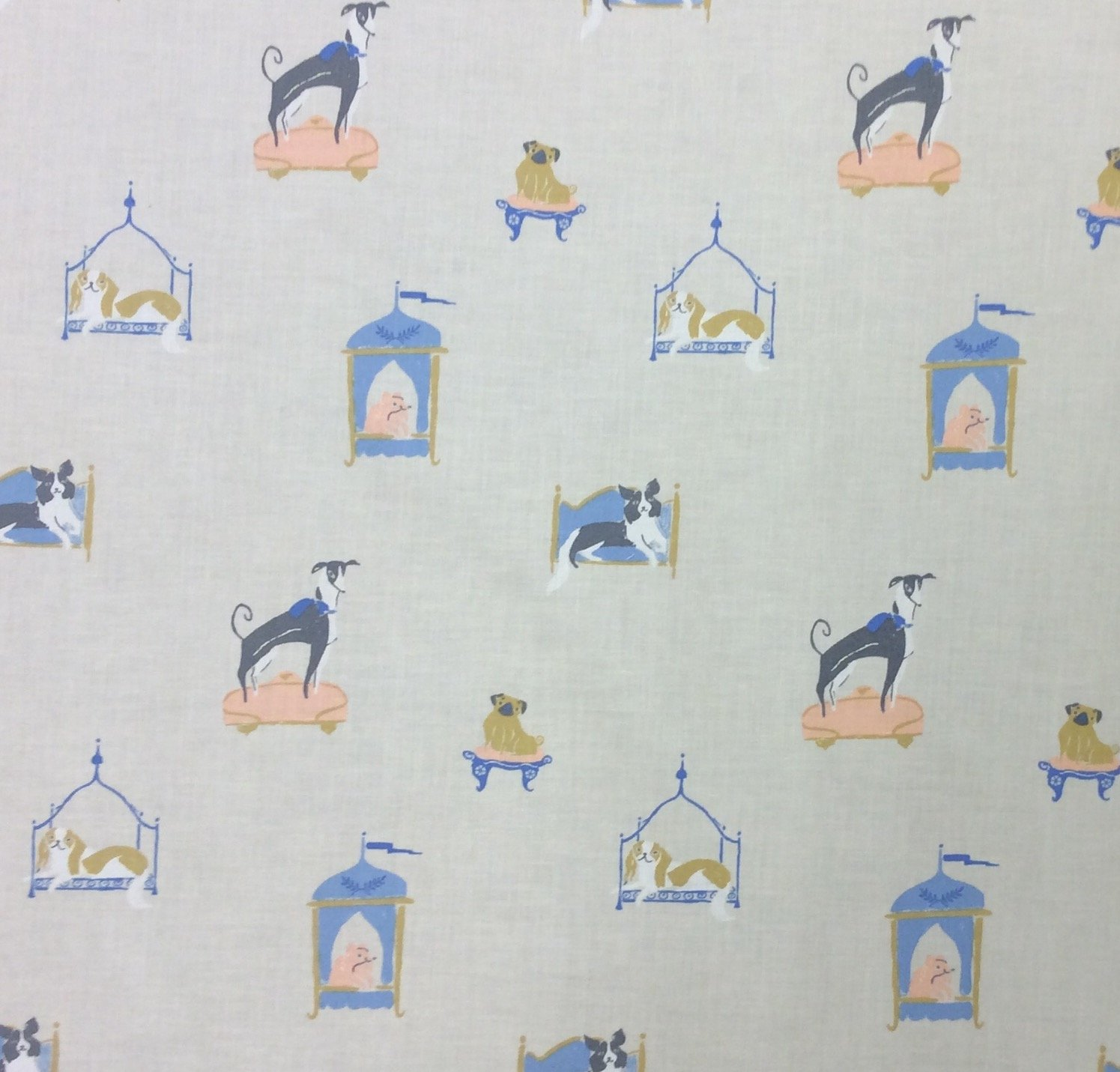 Dear Stella Lounging Puppies Dog Bed Cotton Quilting Fabric FT164
